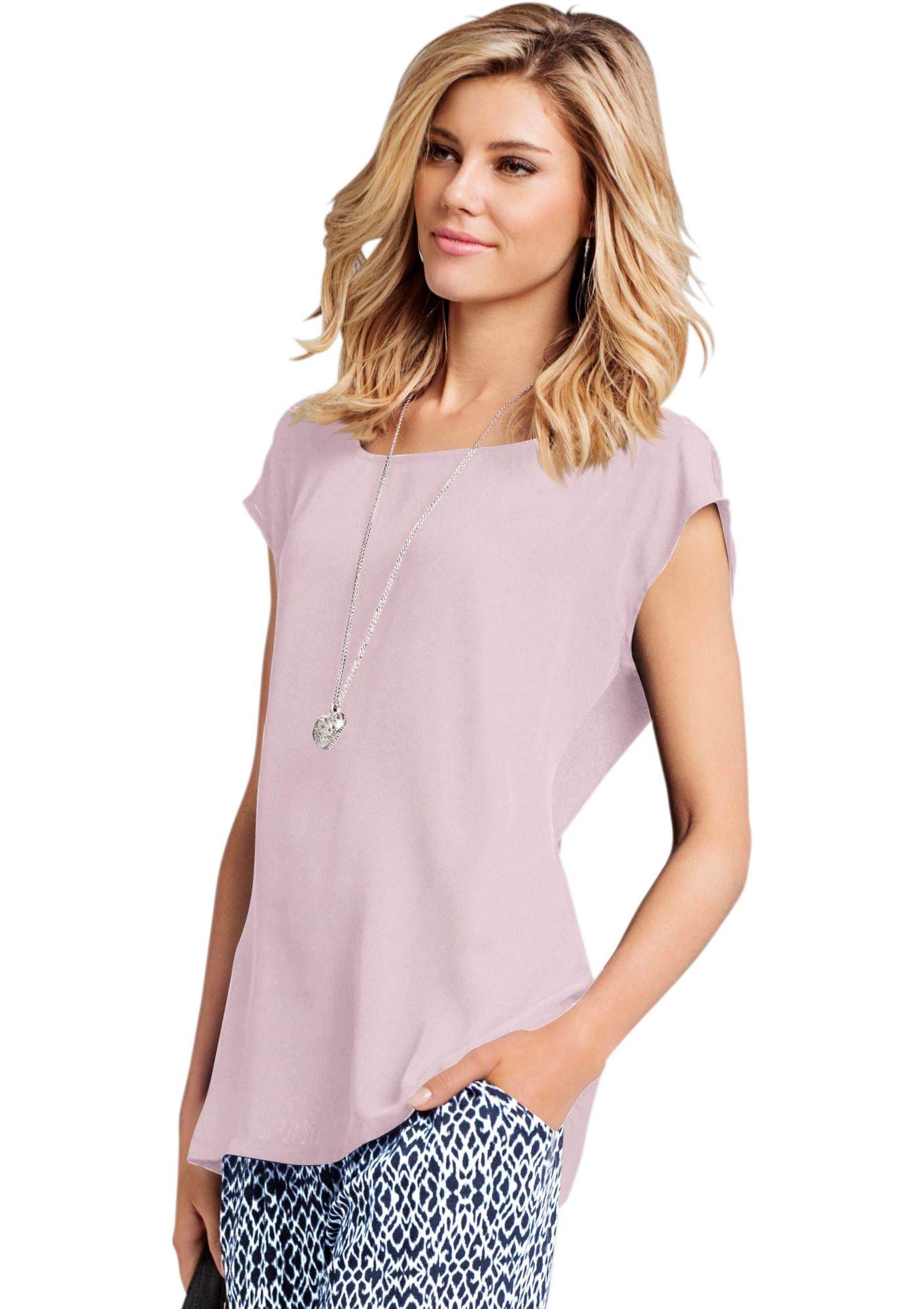 CLASSIC INSPIRATIONEN Classic Inspirationen Bluse mit überschnittenen Schultern