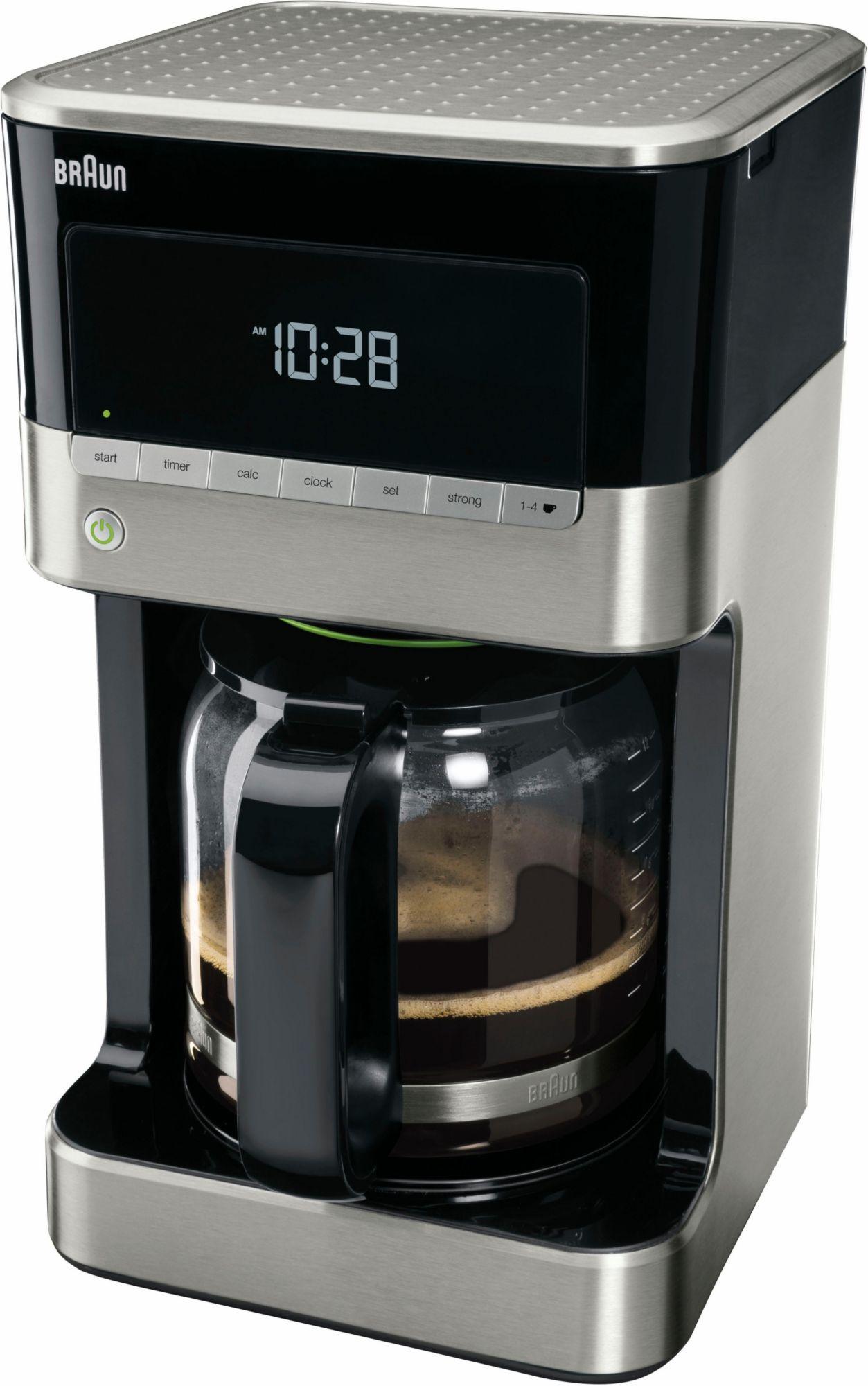 BRAUN Braun Kaffeemaschine KF 7120, edelstahl-schwarz