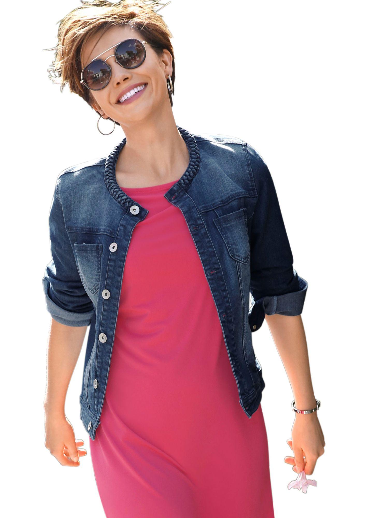 ALESSA W Alessa W. Jeansblazer in kurzer Form