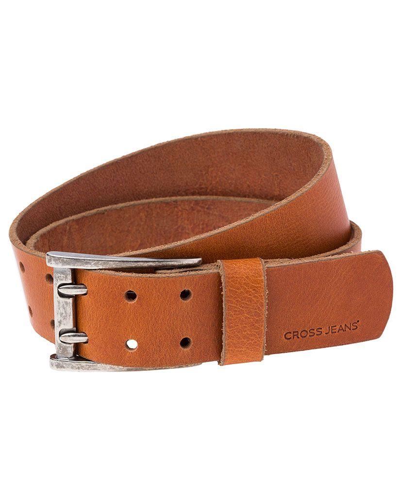 CROSS JEANS ® CROSS Jeans ® Ledergürtel mit doppelter Metallschließe