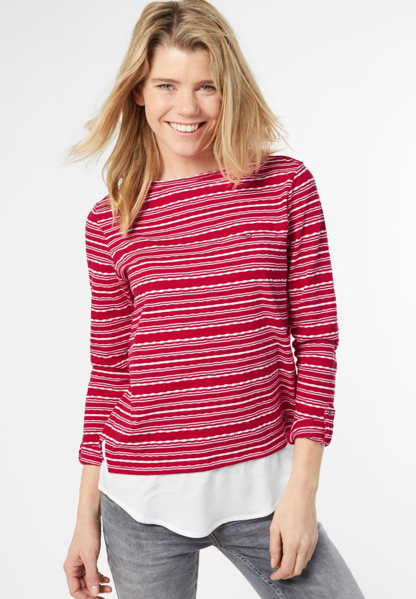 CECIL  2-in-1 Pullover mit Streifen