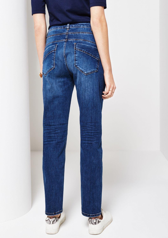 COMMA  5-Pocket Jeans in Used-Optik