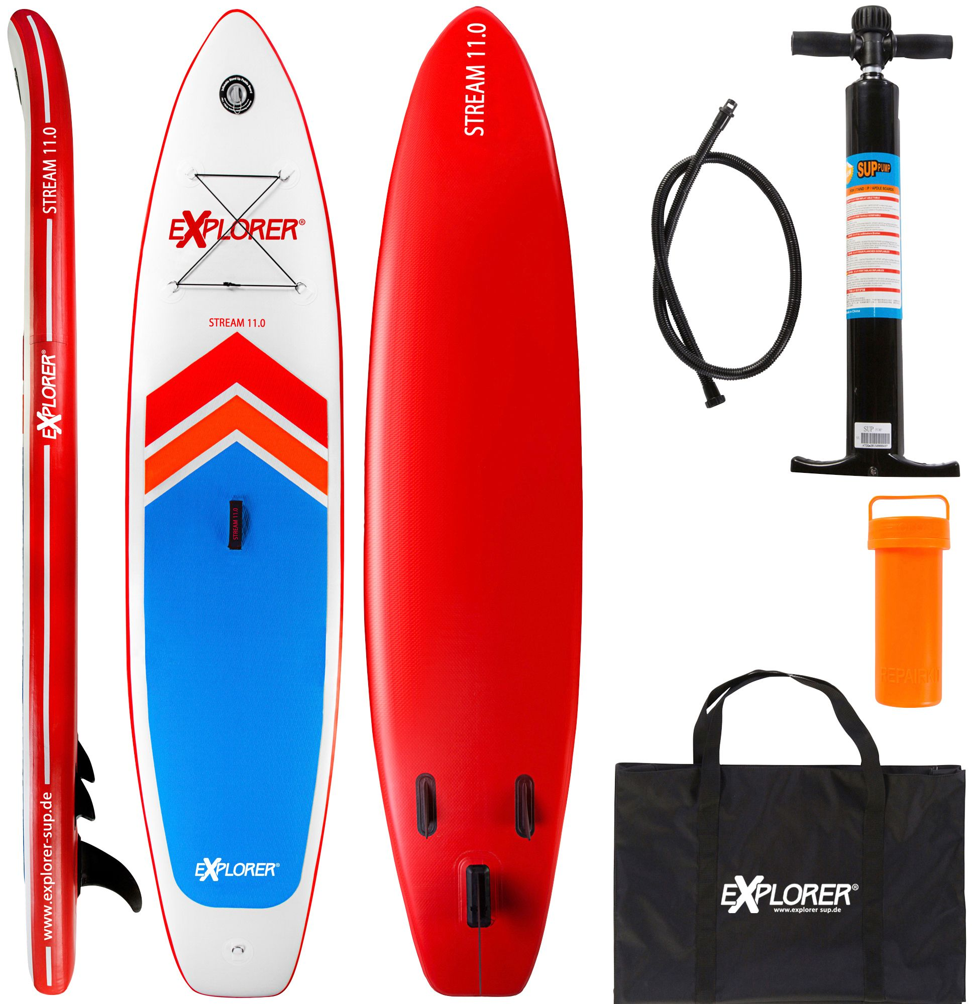 EXPLORER Explorer Stand Up Paddle SUP-Board »Stream 11.0«, BxL: 75 x 335 cm