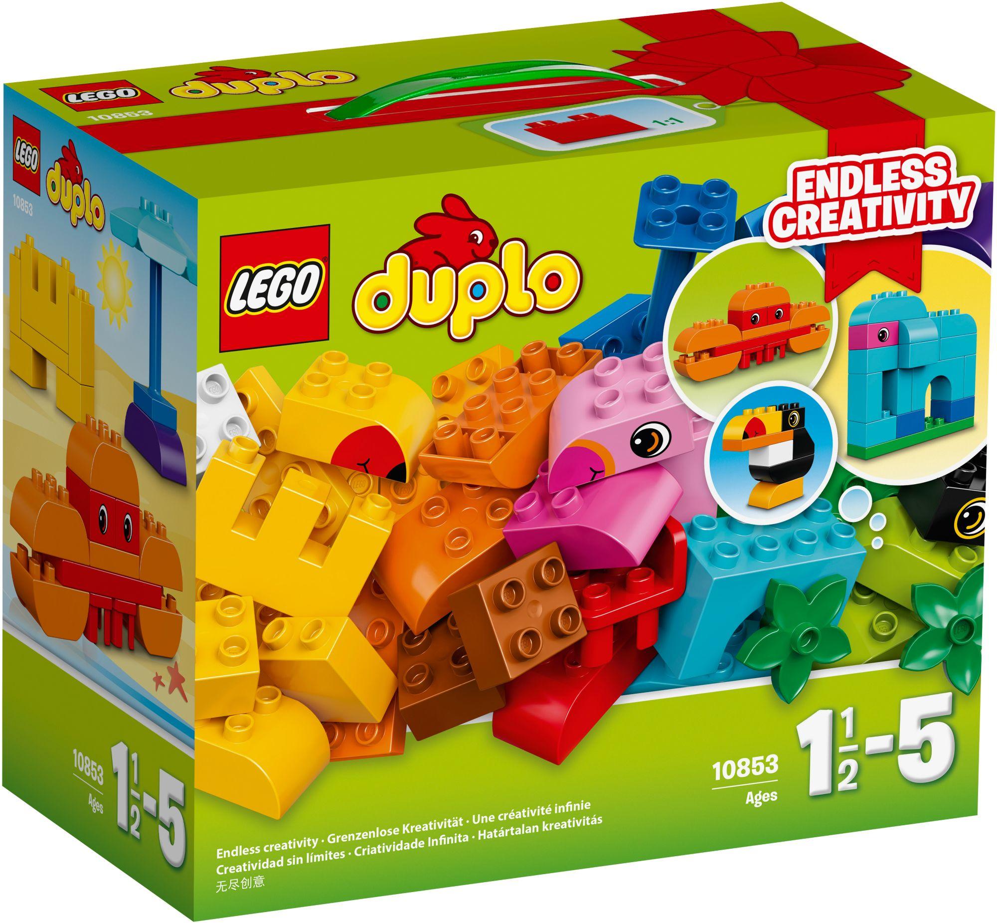 LEGO® 10853 DUPLO Kreativ-Bauset bunte Tierwelt, Konstruktionsspielzeug