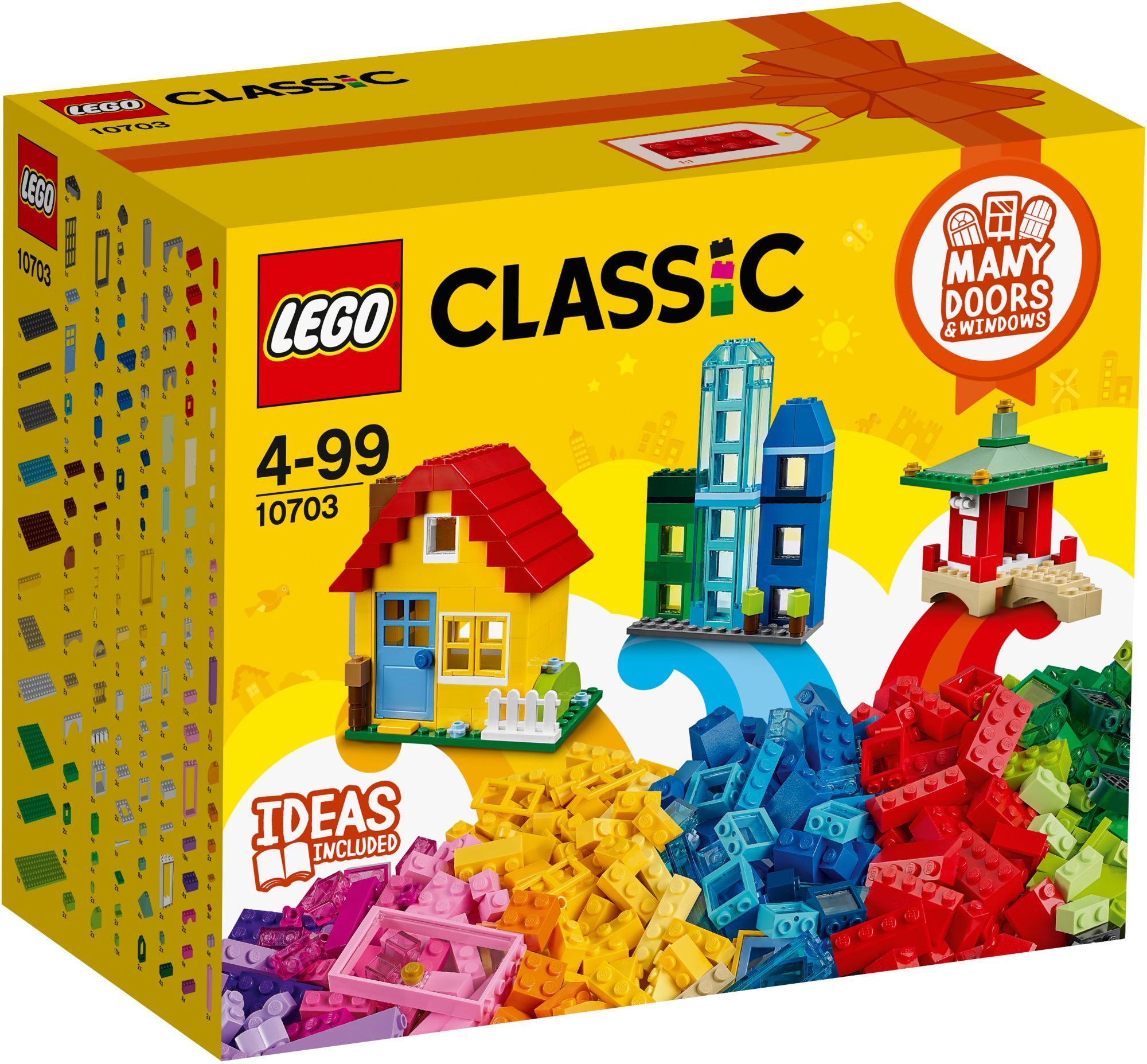 LEGO® 10703 Classic Kreativ-Bauset Gebäude, Konstruktionsspielzeug