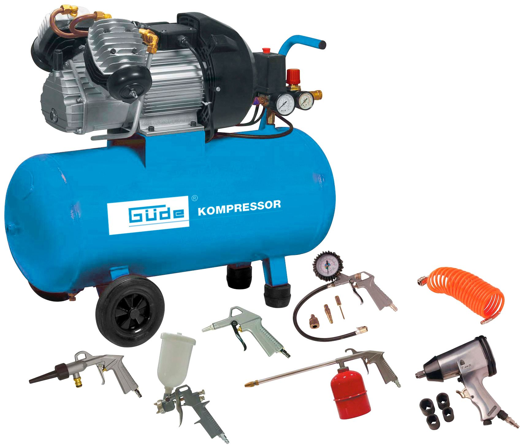 GÜDE  Kompressor »Set 400/10/50 DG«, 15-tgl.