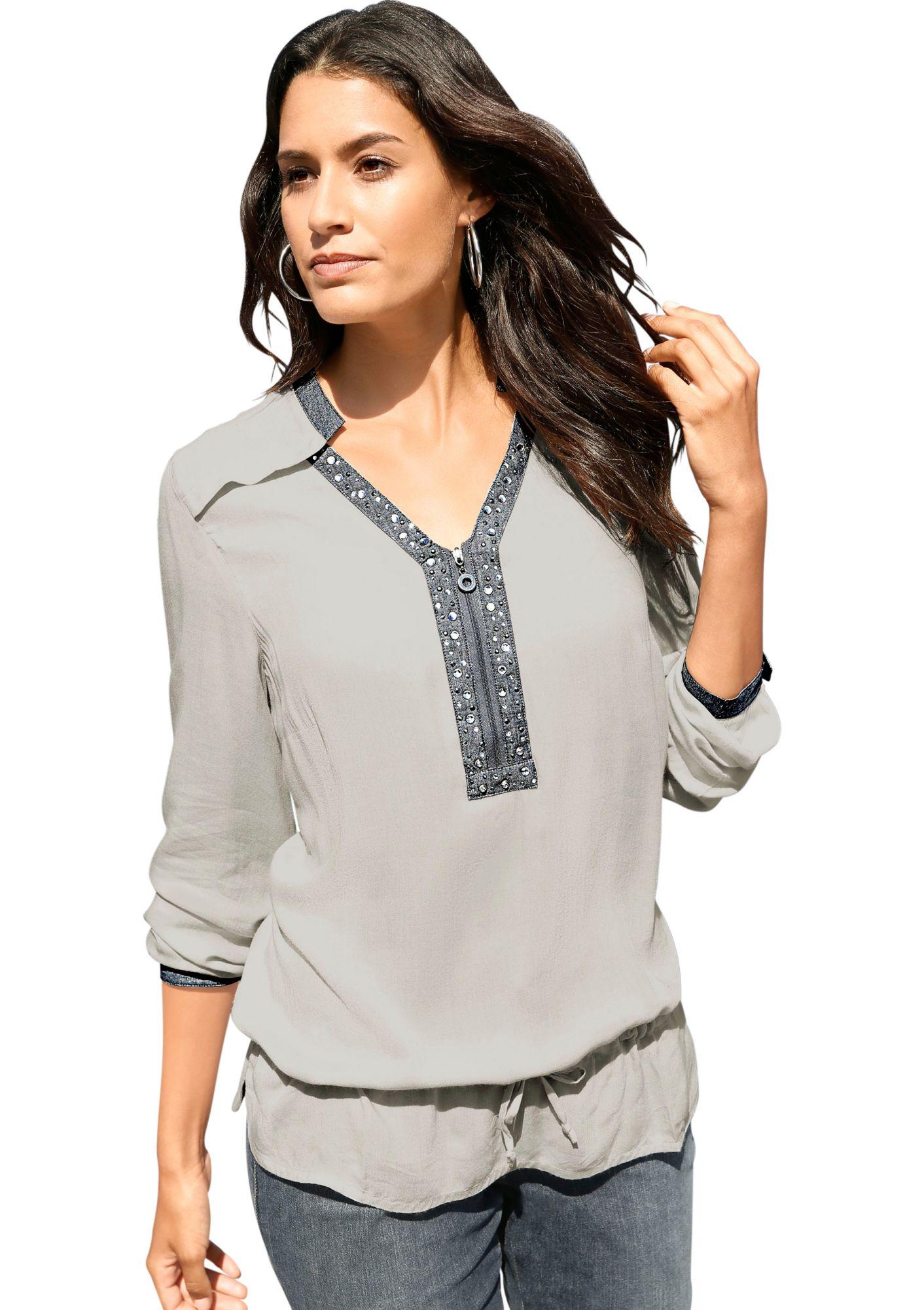 CLASSIC INSPIRATIONEN Classic Inspirationen Bluse in angenehm leichter, fließender Qualität