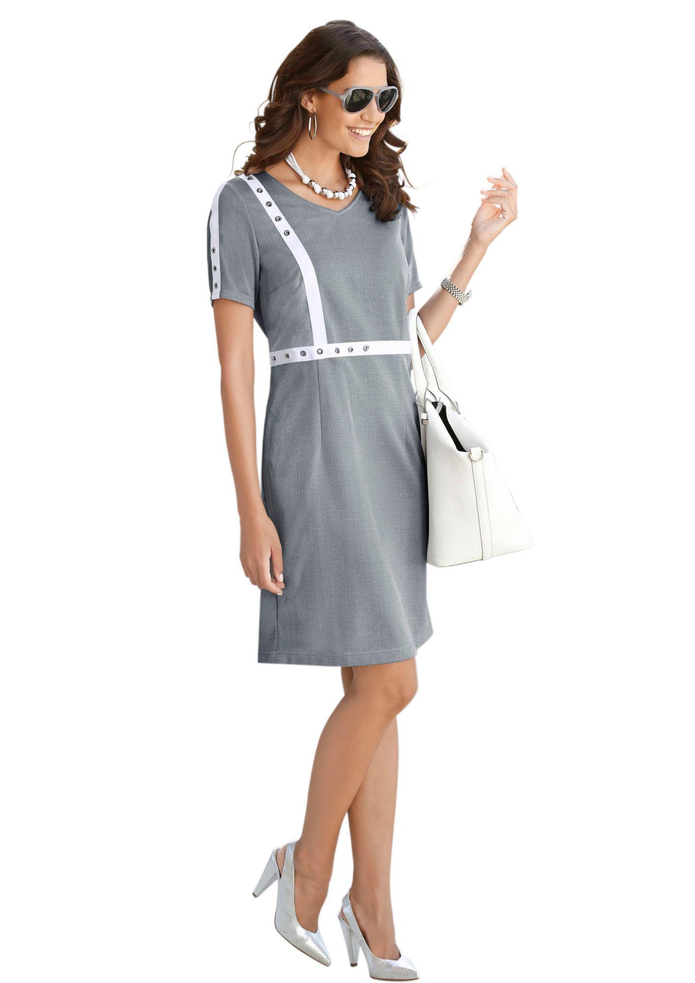 ALESSA W Alessa W. Jersey-Kleid in formstabiler Qualität