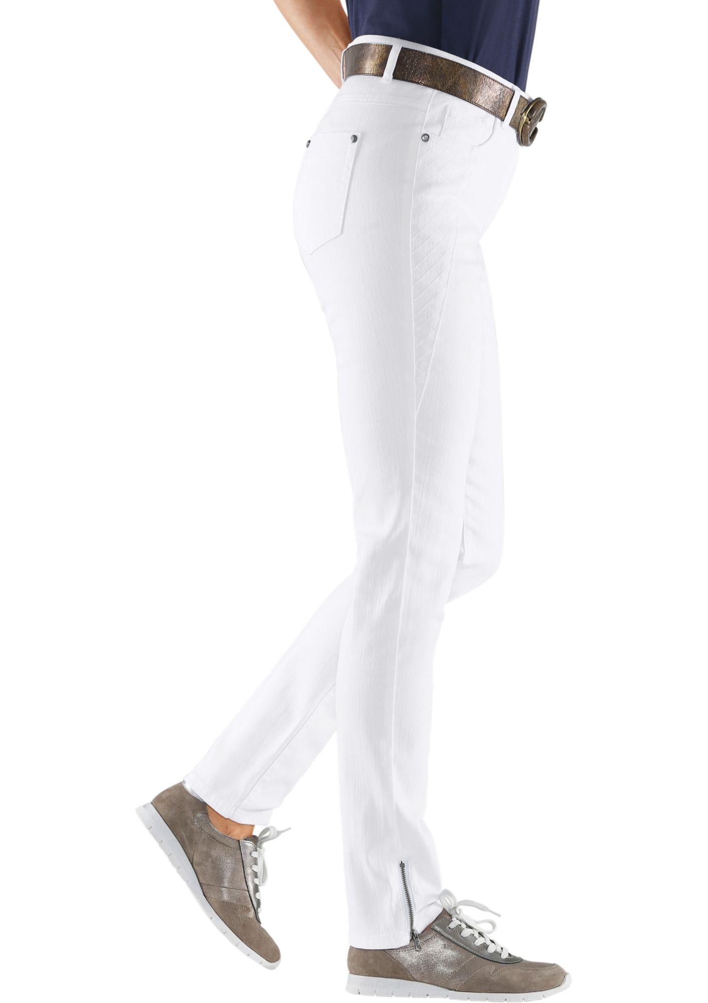 ALESSA W Alessa W. Jeans mit figurschmeichelndem Stepp-Einsatz