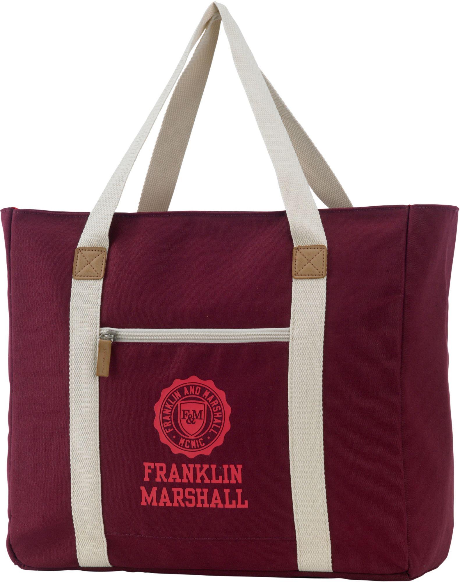 FRANKLIN MARSHALL Franklin & Marshall, Schultertasche mit Extrafach, »Girls Shopper, bordeaux rot«