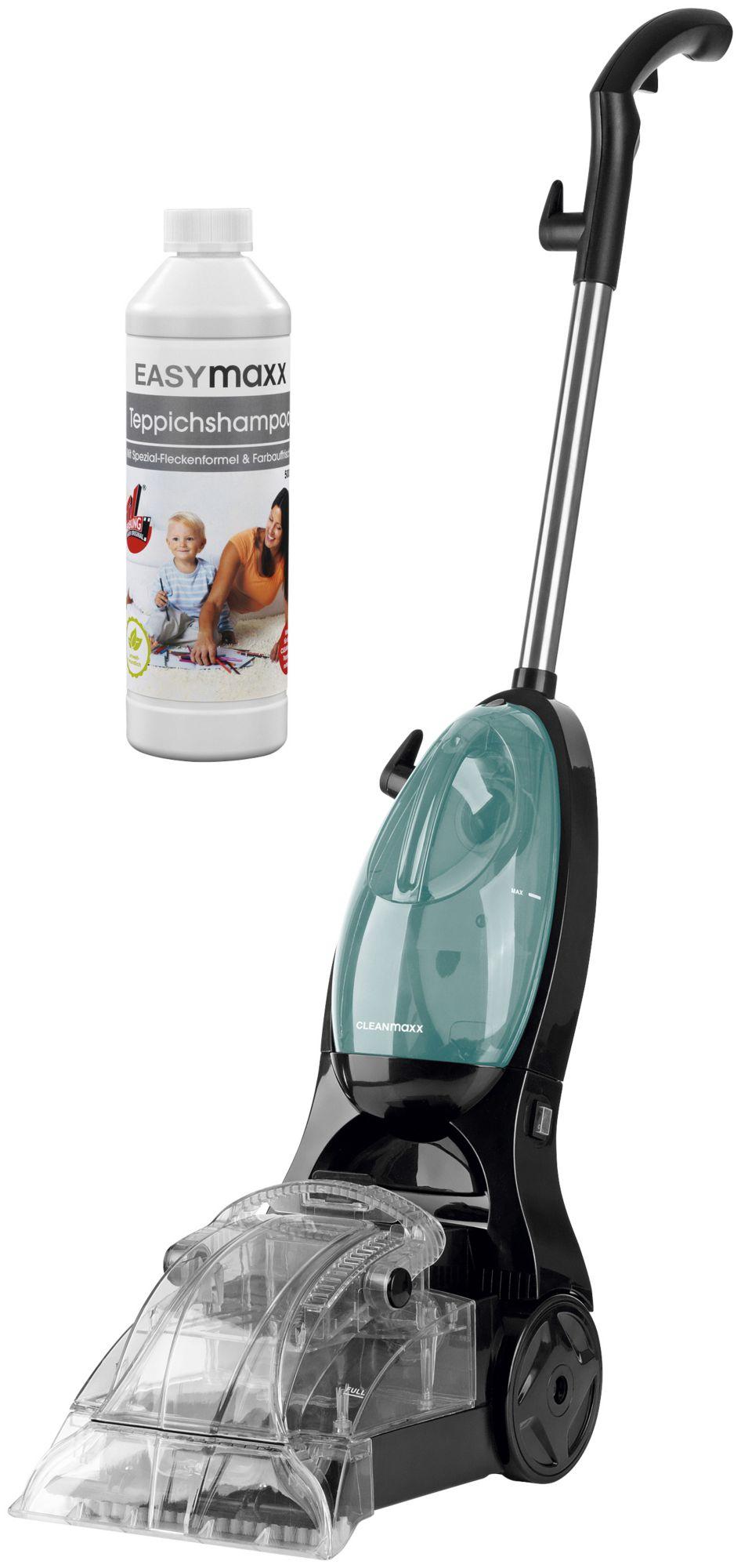 CLEAN MAXX Clean Maxx Teppichreiniger 500W schwarz mit Teppichshampoo