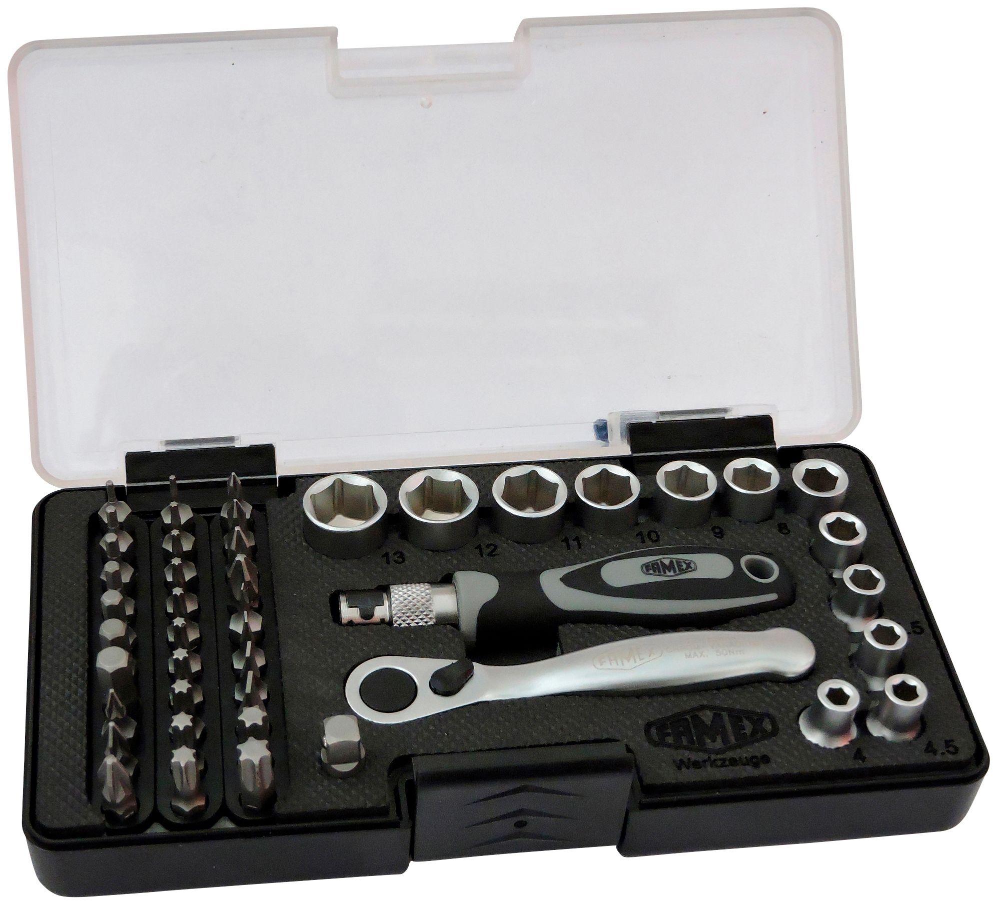 FAMEX  Werkzeugset , Set 45-tgl.