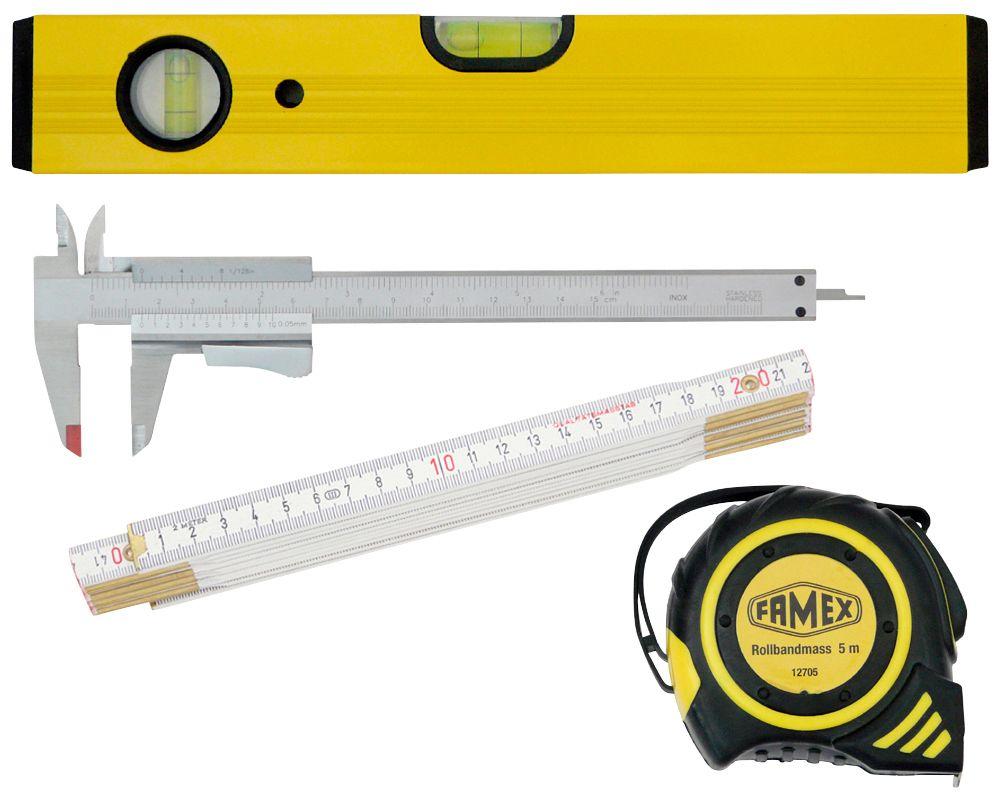FAMEX  Werkzeugsatz »Messwerkzeuge«, Set 4-tgl.