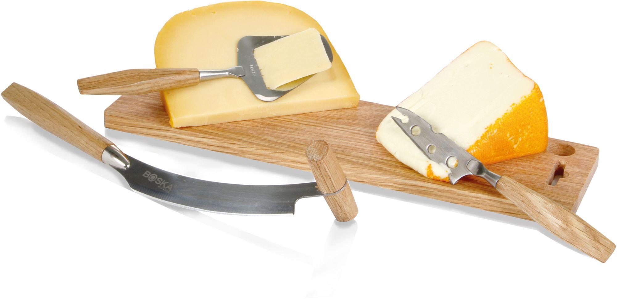 BOSKA HOLLAND BOSKA Holland Schneidbrett/Käsemesser, Set, Eichenholz, »Explore Cheese«