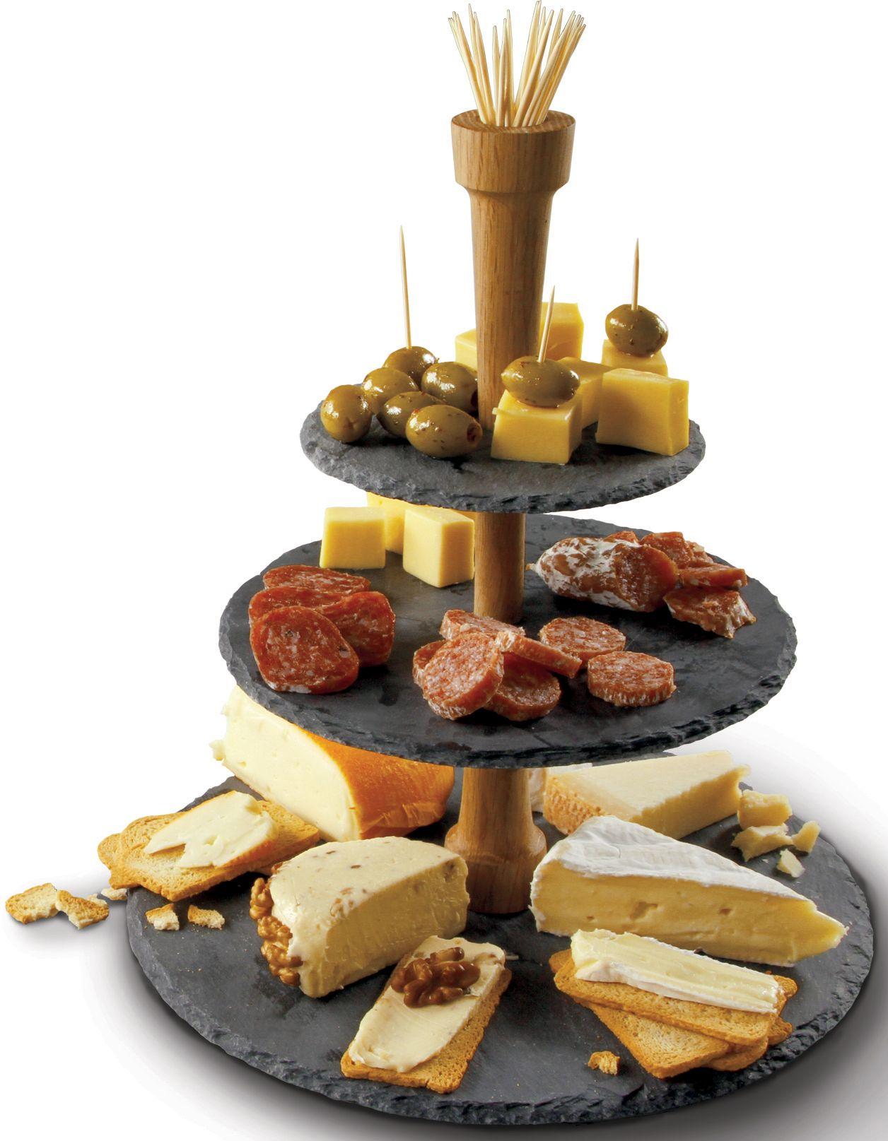 BOSKA HOLLAND BOSKA Holland Cheese Tower®, 3-stufig, Schiefer
