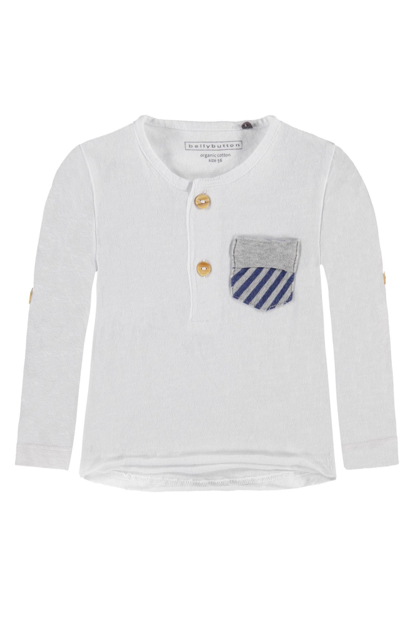 BELLYBUTTON  Babyshirt mit Tasche und Knopfleiste, krempelbar