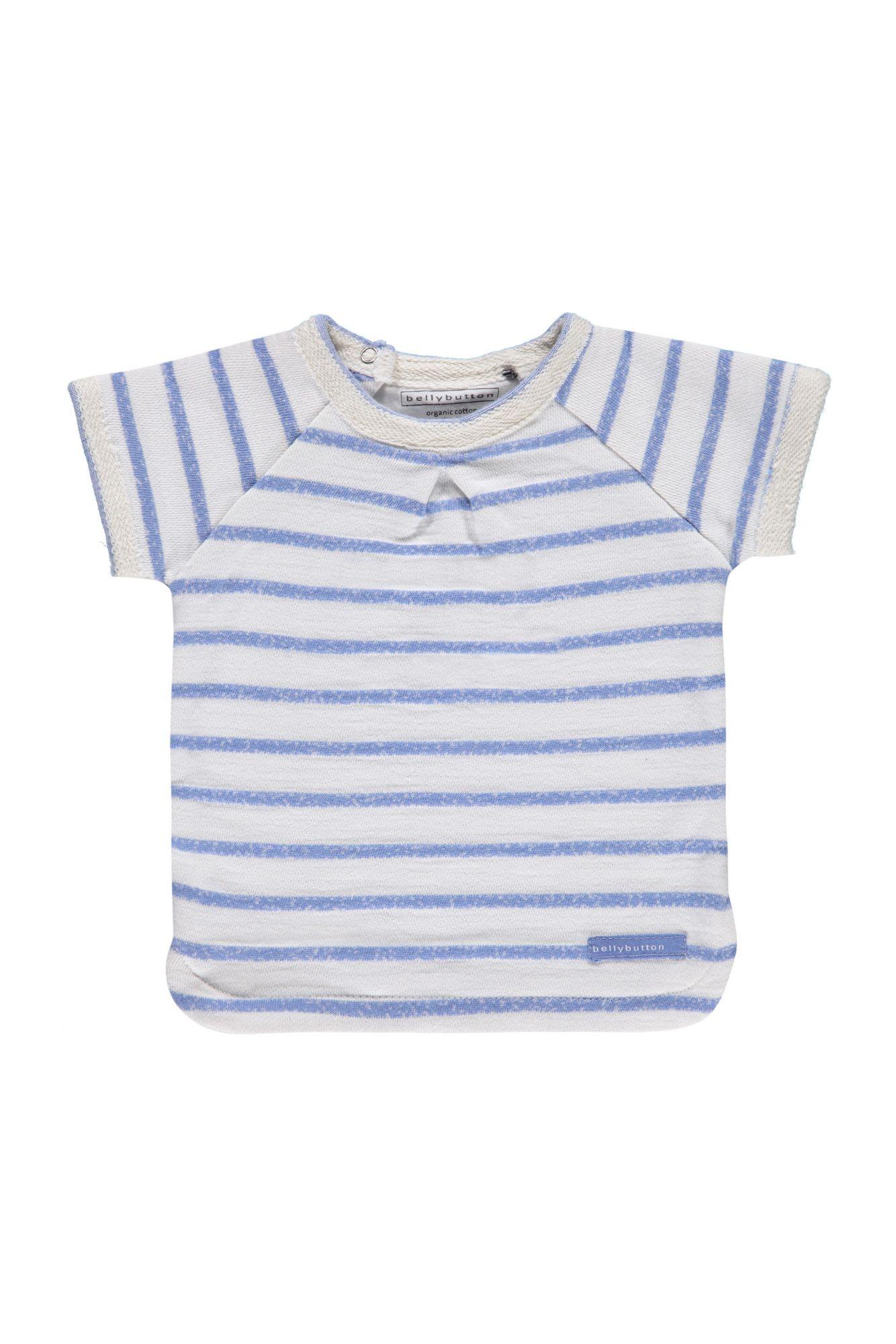 BELLYBUTTON  Baby Big-Shirt mit Kellerfalte vorn, gestreift