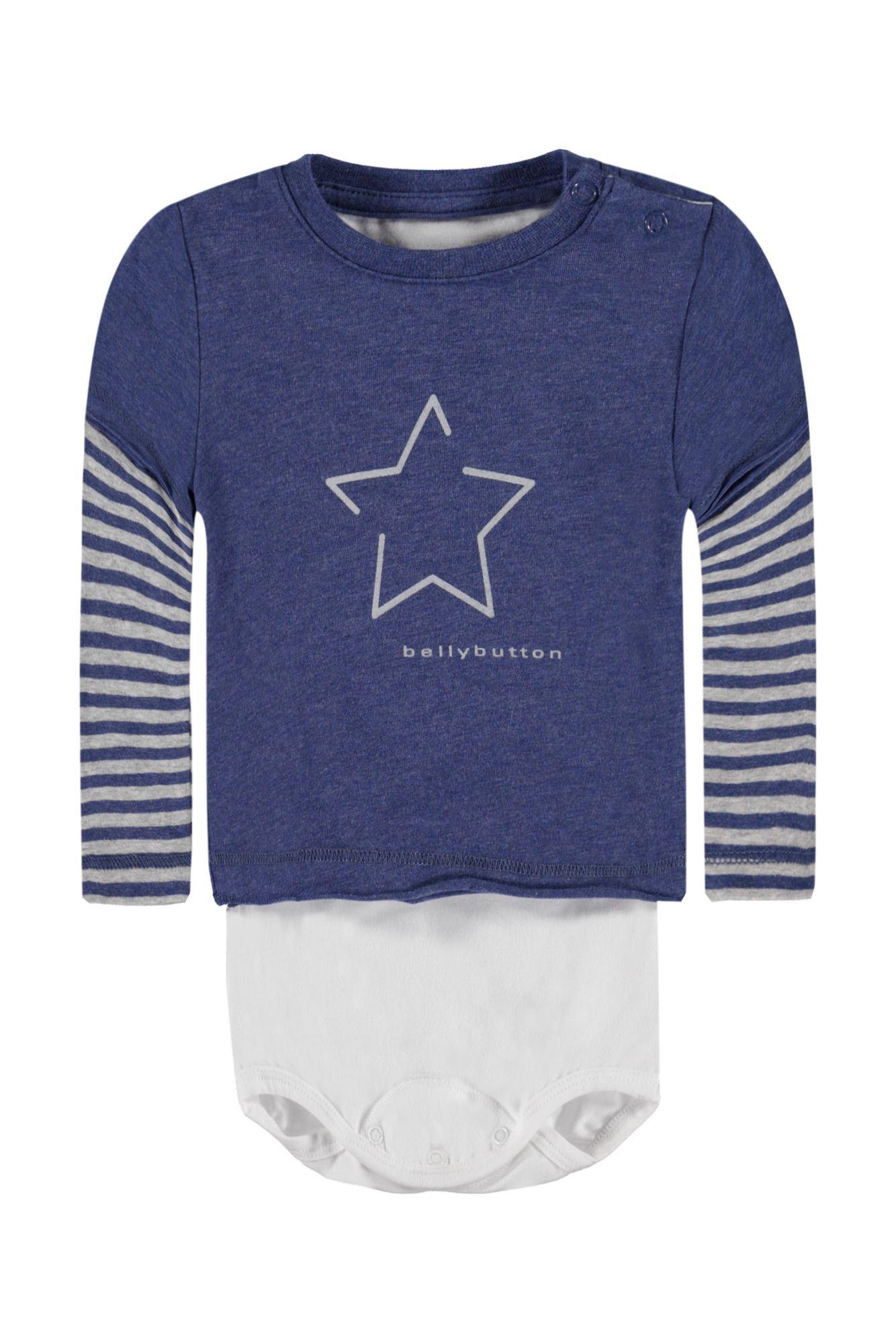 BELLYBUTTON  2in1 Body mit Shirt, Stern und Streifen