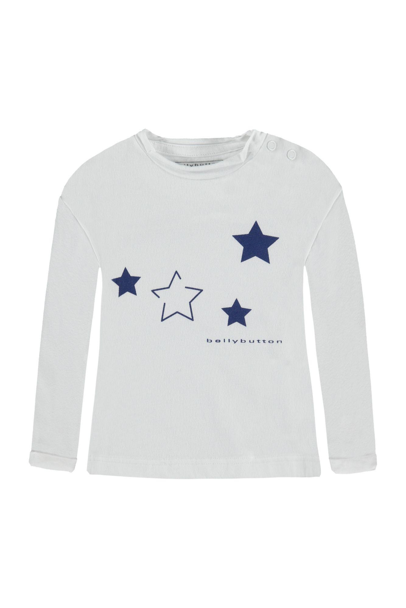 BELLYBUTTON  Baby Langarmshirt mit Sternchen Print