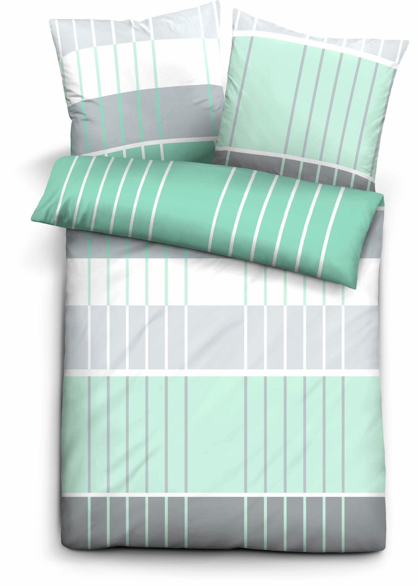 BIBERNA Bettwäsche, Biberna, »Gard«, mit Streifen Muster