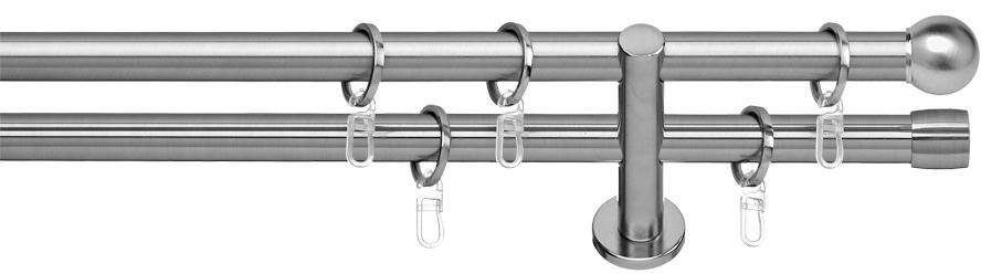 INDEKO Gardinenstange 1- oder 2-läufig nach Maß, indeko, »Colombes«, ø 16 mm