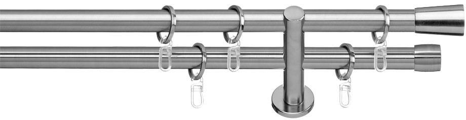 INDEKO Gardinenstange 1- oder 2-läufig nach Maß, indeko, »Arosa«, ø 16 mm