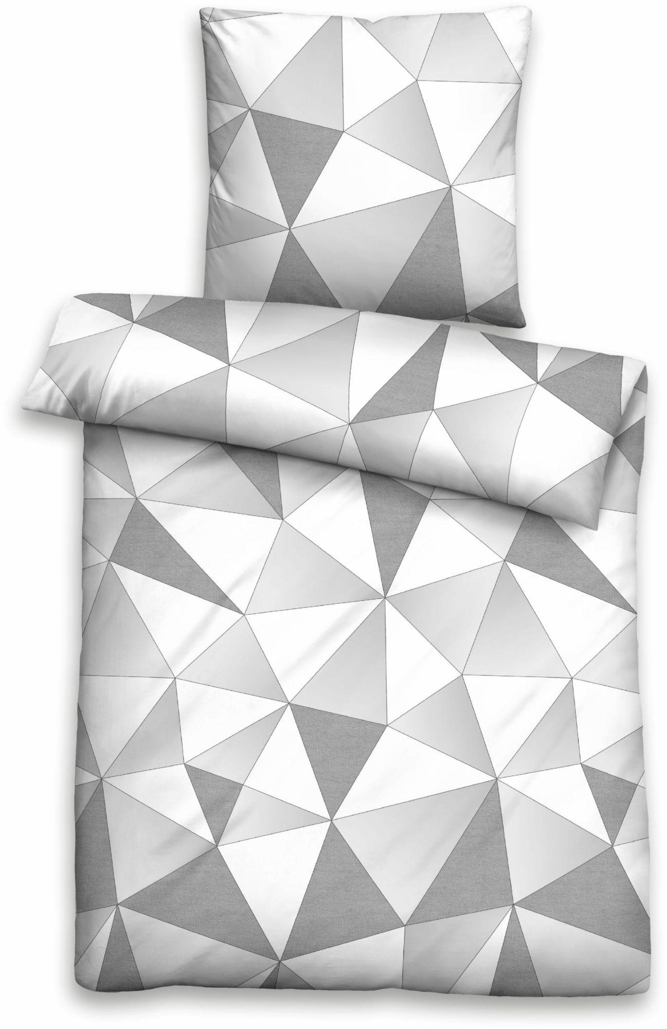 BIBERNA Bettwäsche, Biberna, »Breakout«, mit Dreieck-Muster