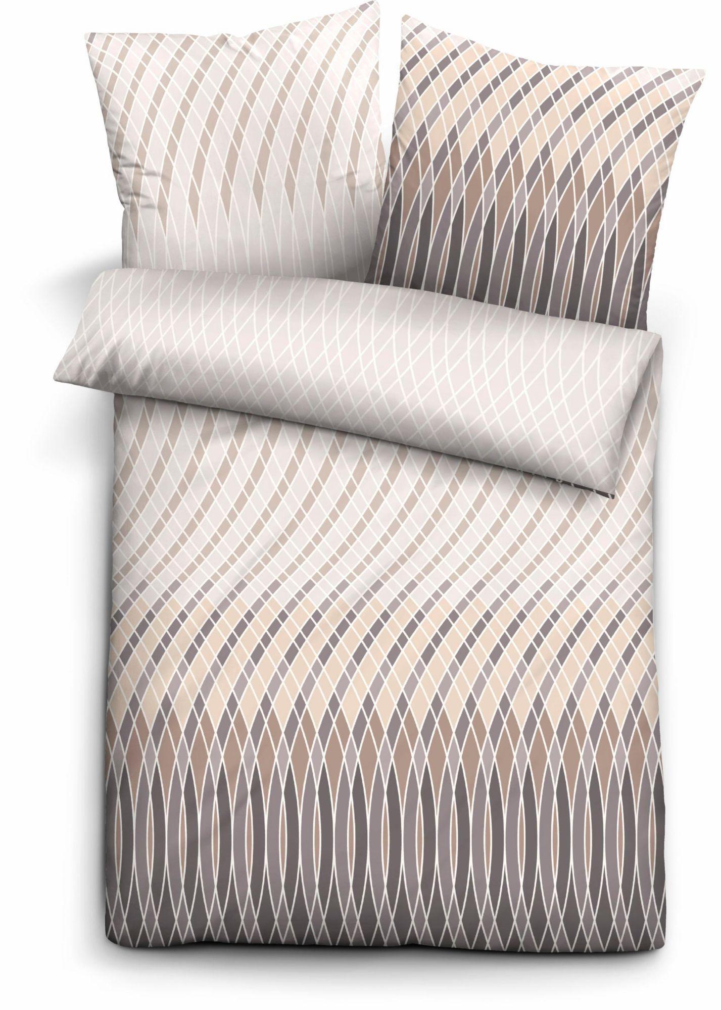 BIBERNA Bettwäsche, Biberna, »Shift«, mit geschwungenen Linien