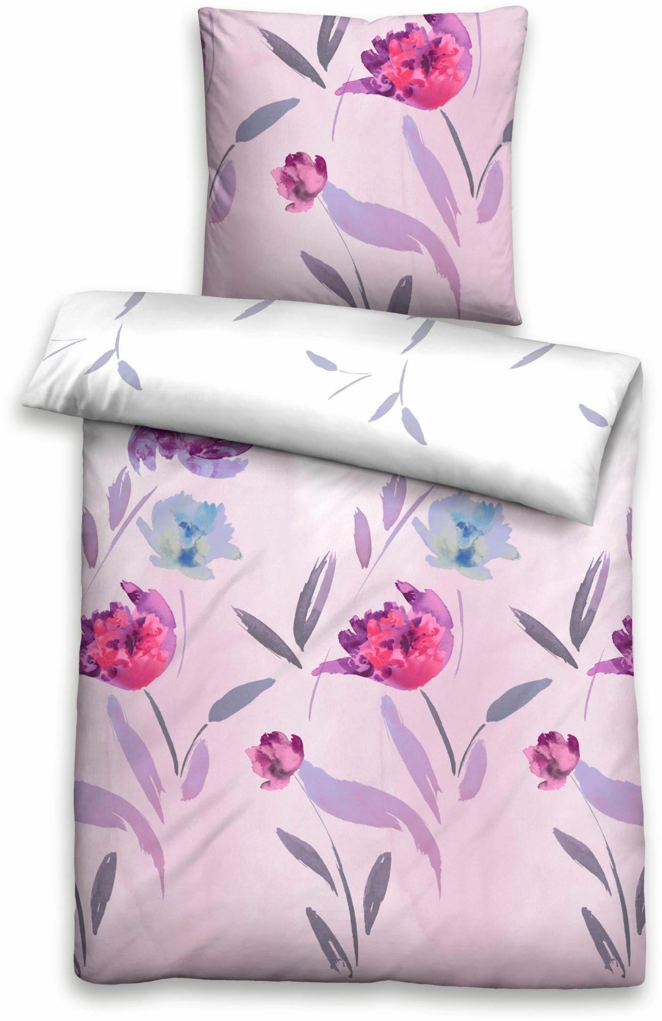 BIBERNA Bettwäsche, Biberna, »Desi«, mit floralem Muster
