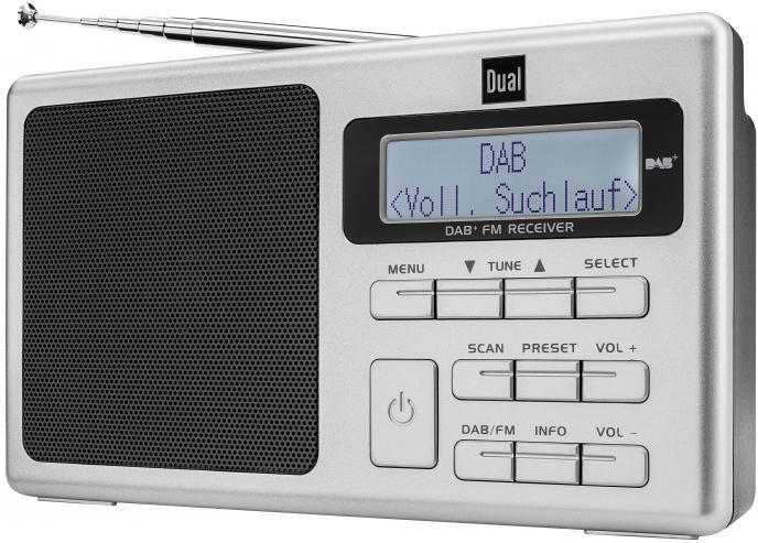 DUAL Dual DAB 70, Portables DAB(+) / UKW Radio mit Akku Radio Digitalradio (DAB+)