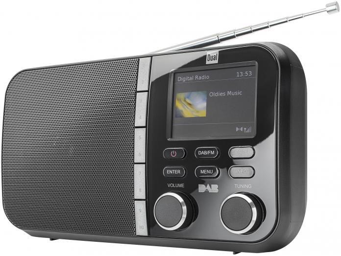 DUAL Dual DAB 4 C Portables DAB+ / UKW Radio mit TFT-Farbdisplay Radio Digitalradio (DAB+)