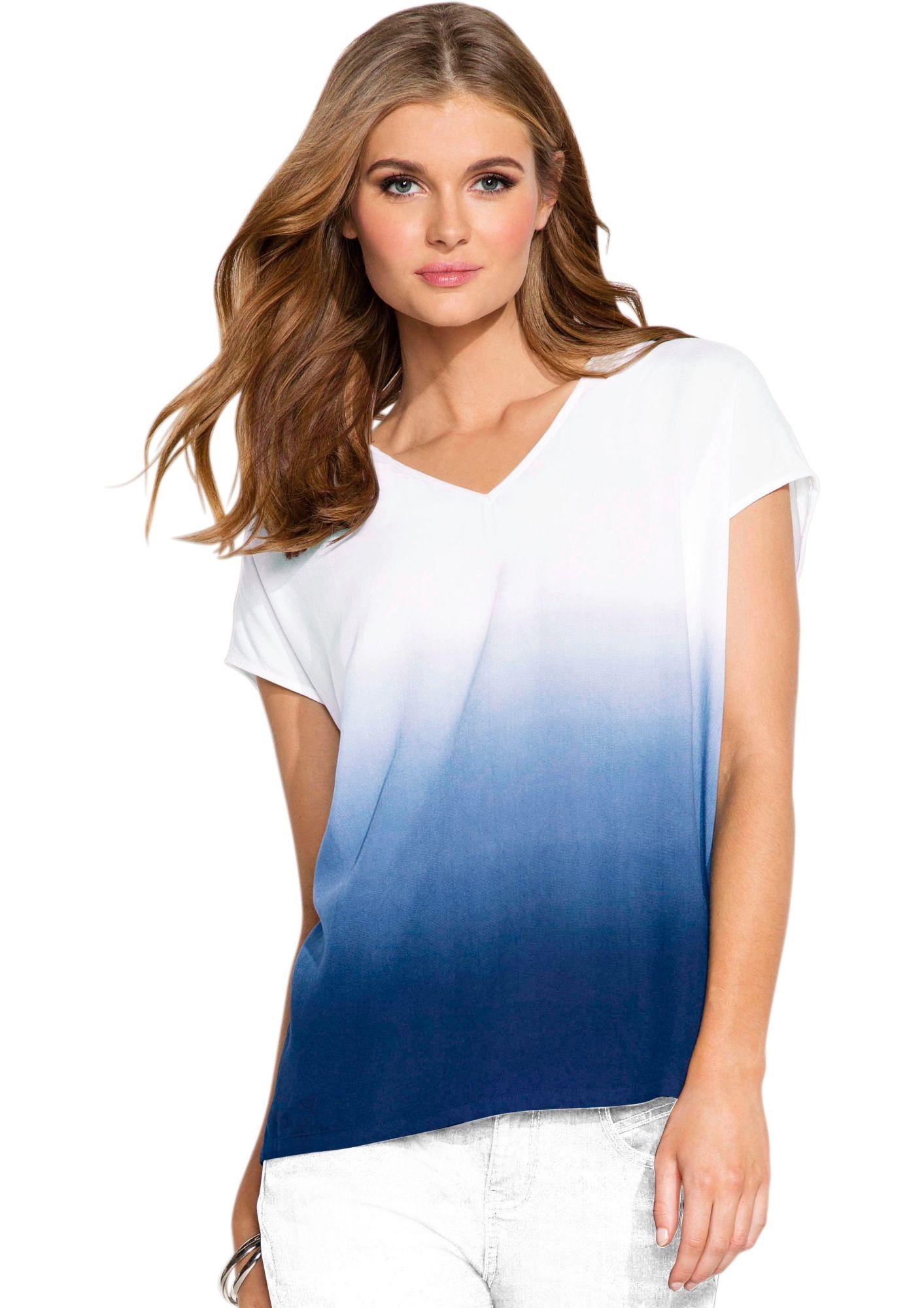 CLASSIC INSPIRATIONEN Classic Inspirationen Bluse in in »dip dyed«-Optik