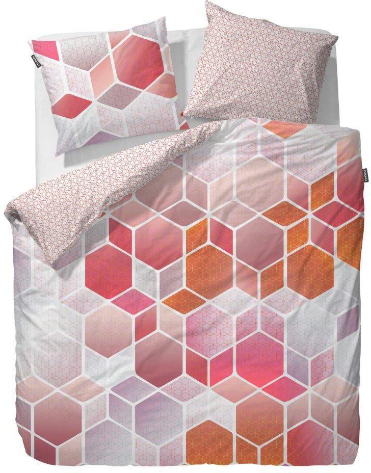 ESSENZA Wendebettwäsche, Essenza, »Hexagon «, im dynamischen Design