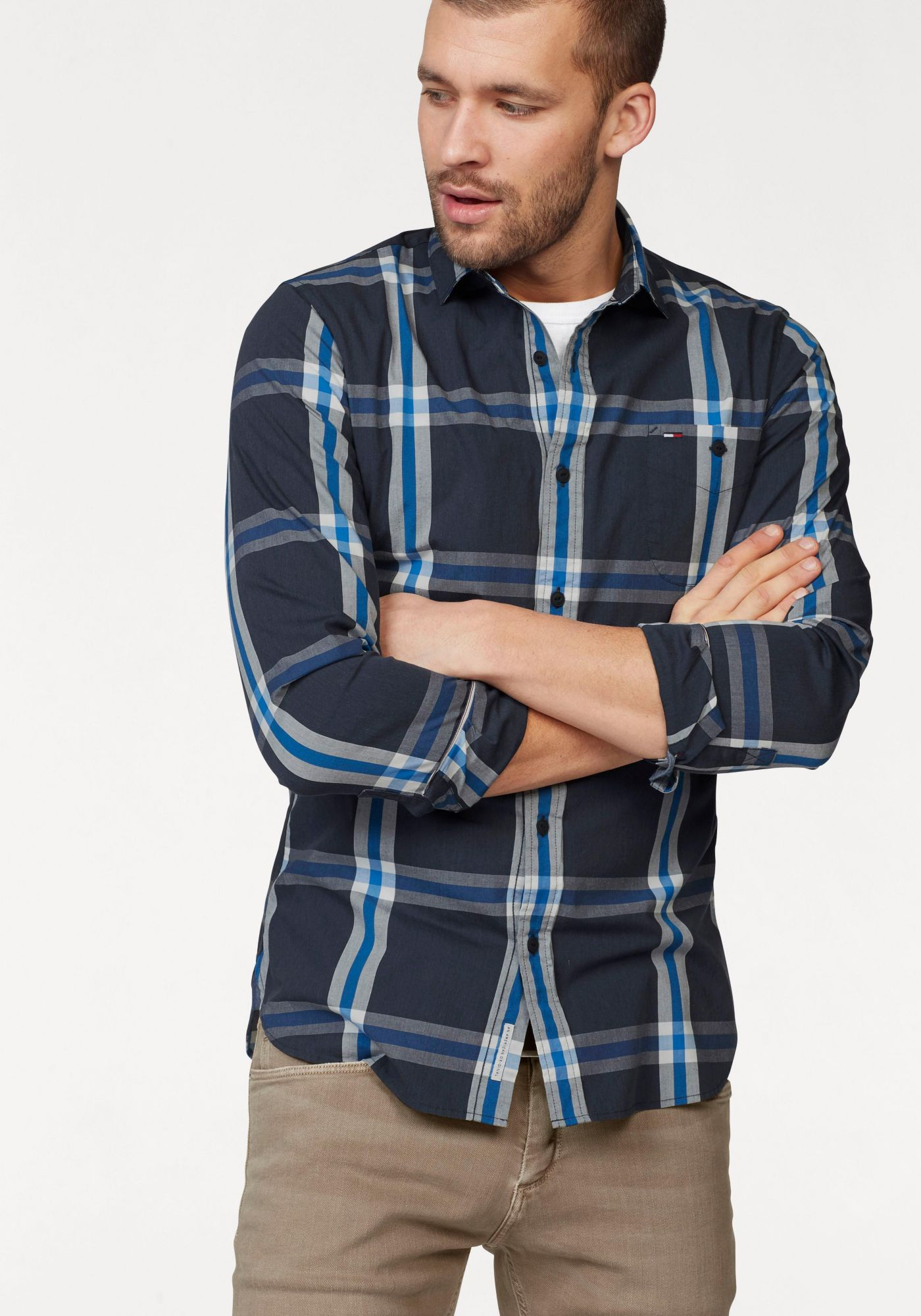 HILFIGER DENIM Hilfiger Denim Karohemd »THDM SL STRETCH CHECK SHIRT L/S 20«