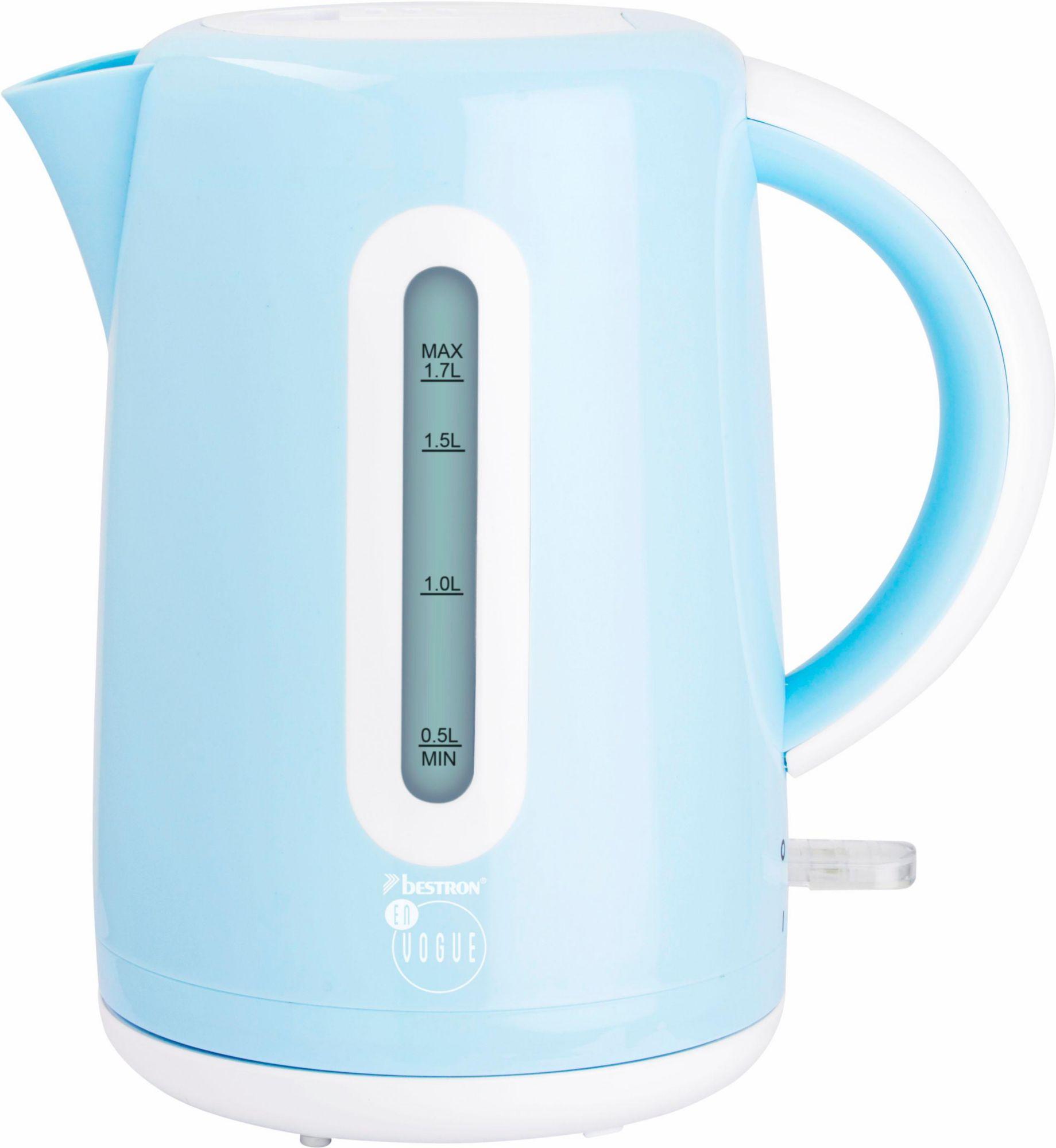 BESTRON Bestron Wasserkocher AWK300EVB, 1,7 Liter, 1850-2200 Watt, blau