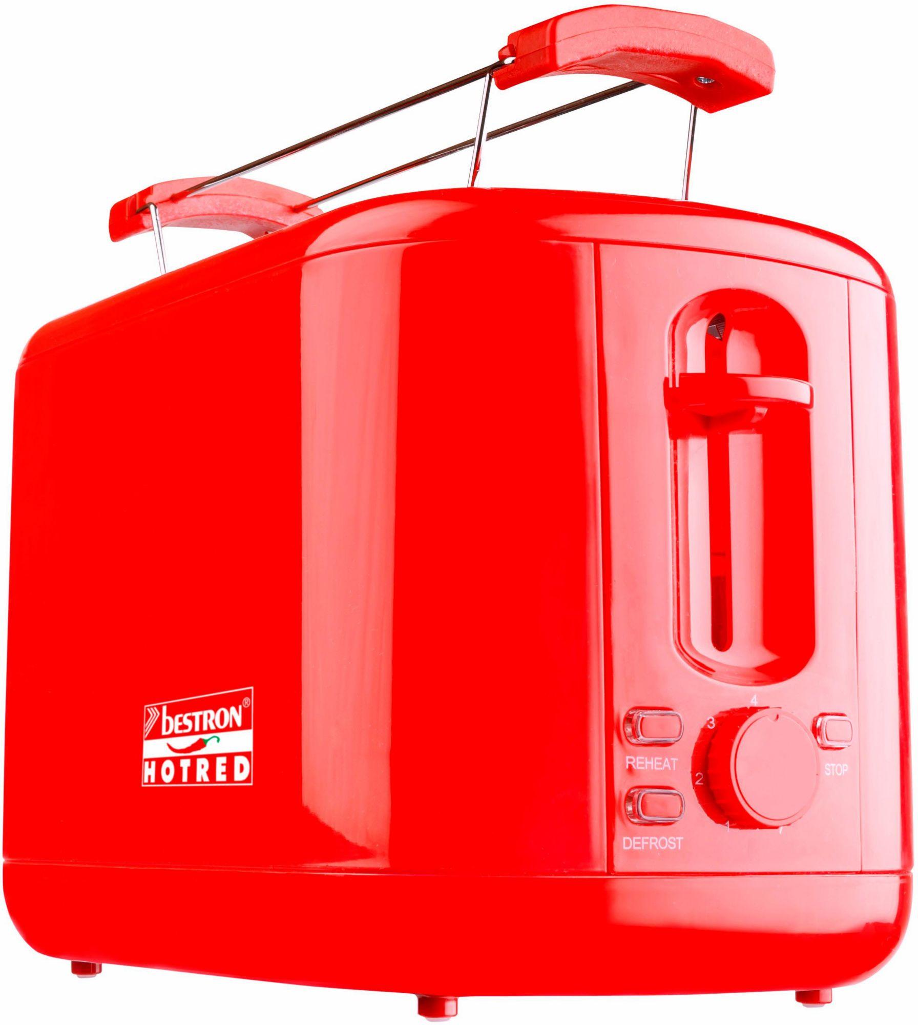 BESTRON Bestron Toaster ATS300HR, für 2 Scheiben, rot