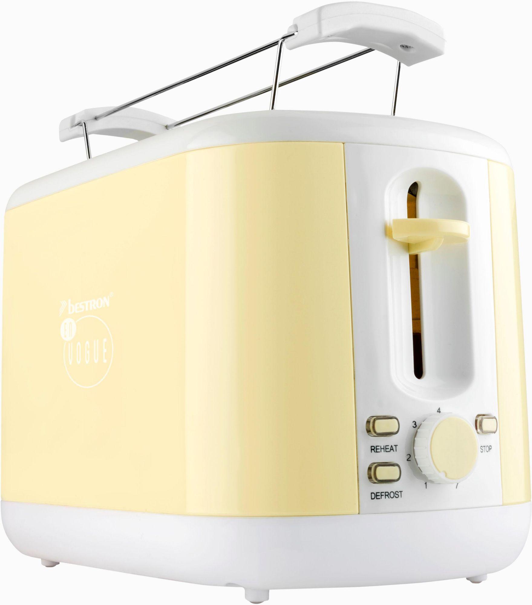 BESTRON Bestron Toaster ATS300EVV, für 2 Scheiben, vanille