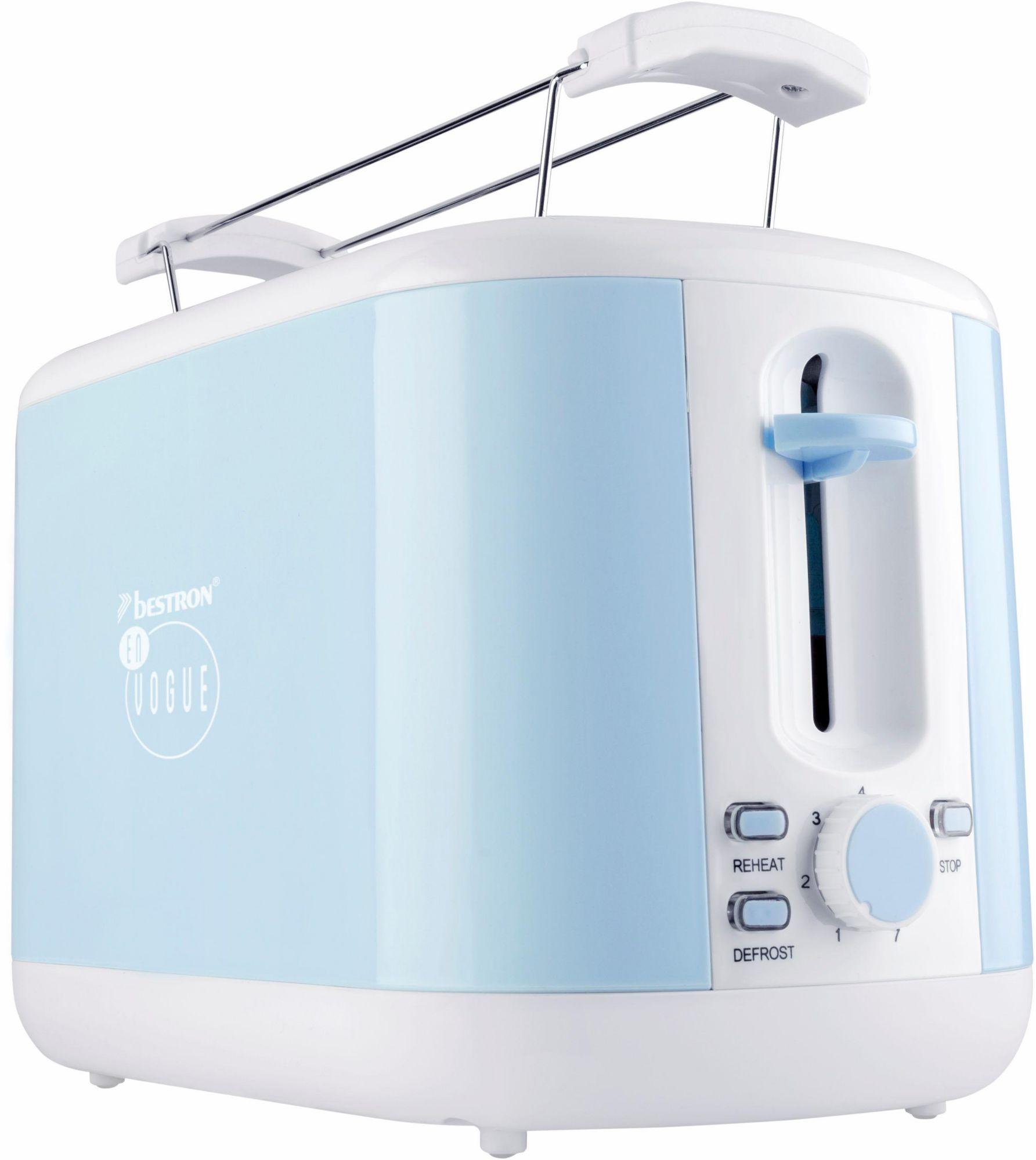 BESTRON Bestron Toaster ATS300EVB, für 2 Scheiben, blau