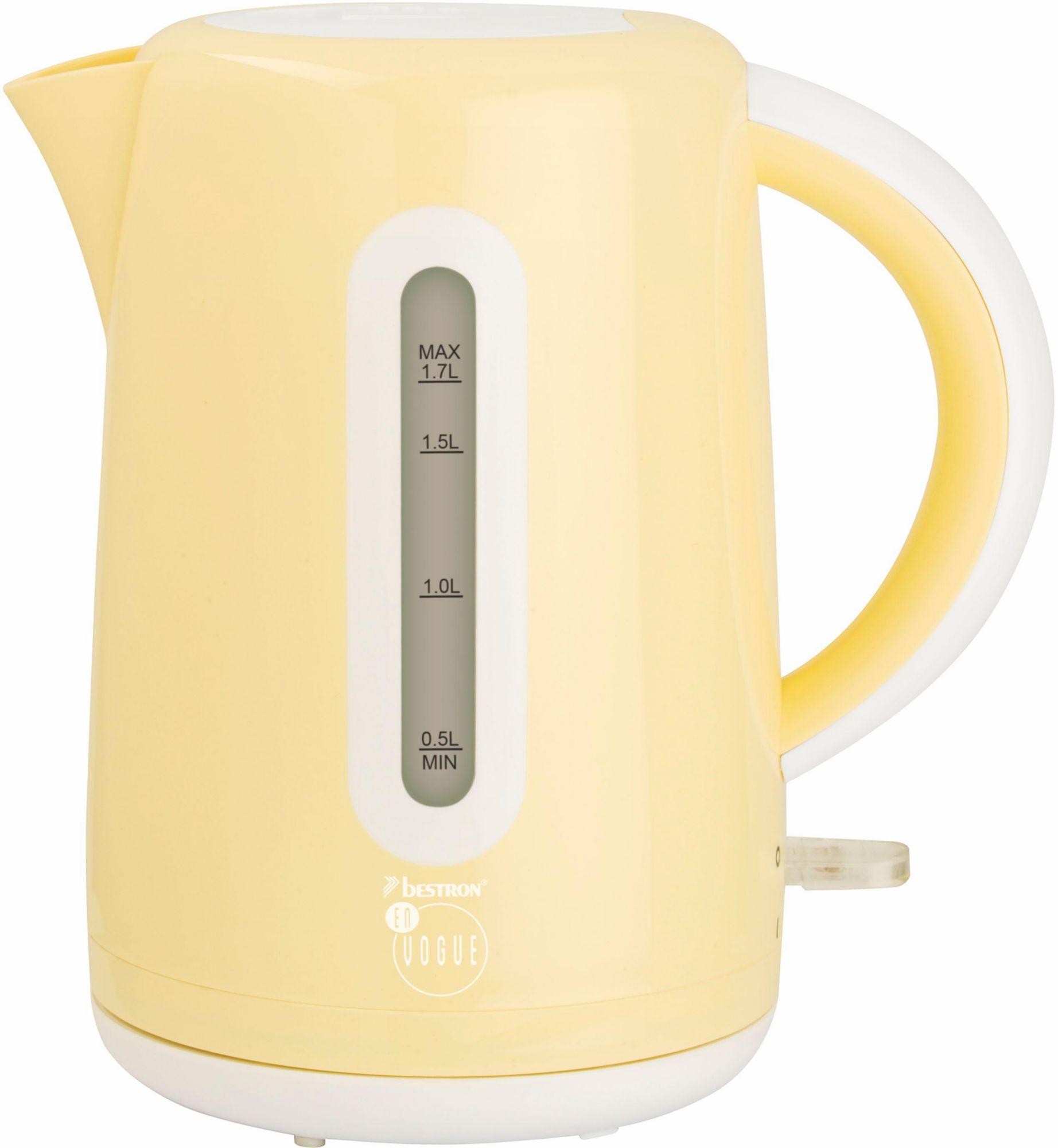 BESTRON Bestron Wasserkocher AWK300EVV für 1,7 Liter, 1850-2200 Watt, vanille