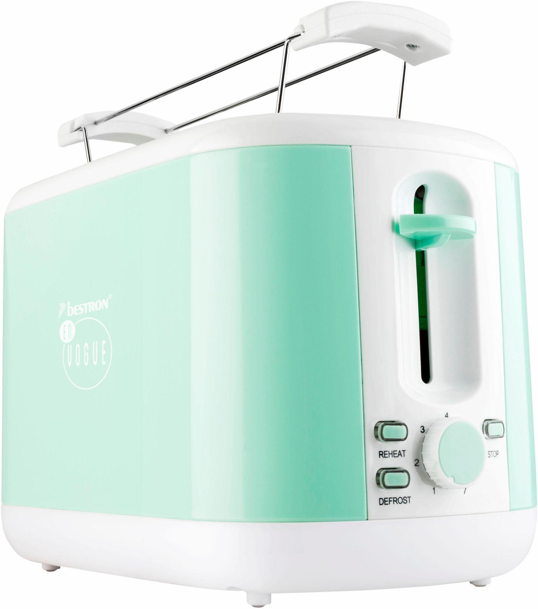 BESTRON Bestron Toaster ATS300EVM, für 2 Scheiben, mint