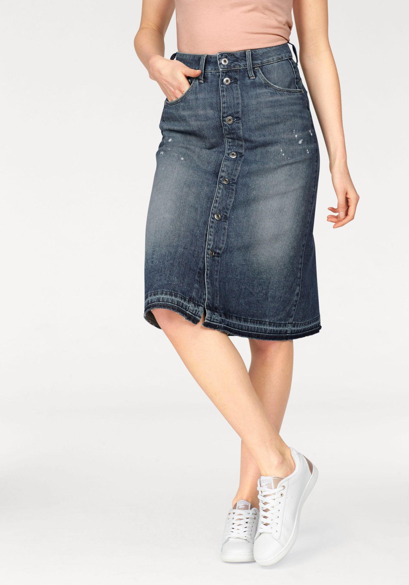 G STAR G-Star Jeansrock »Arc BTN A-line Midl Skirt«