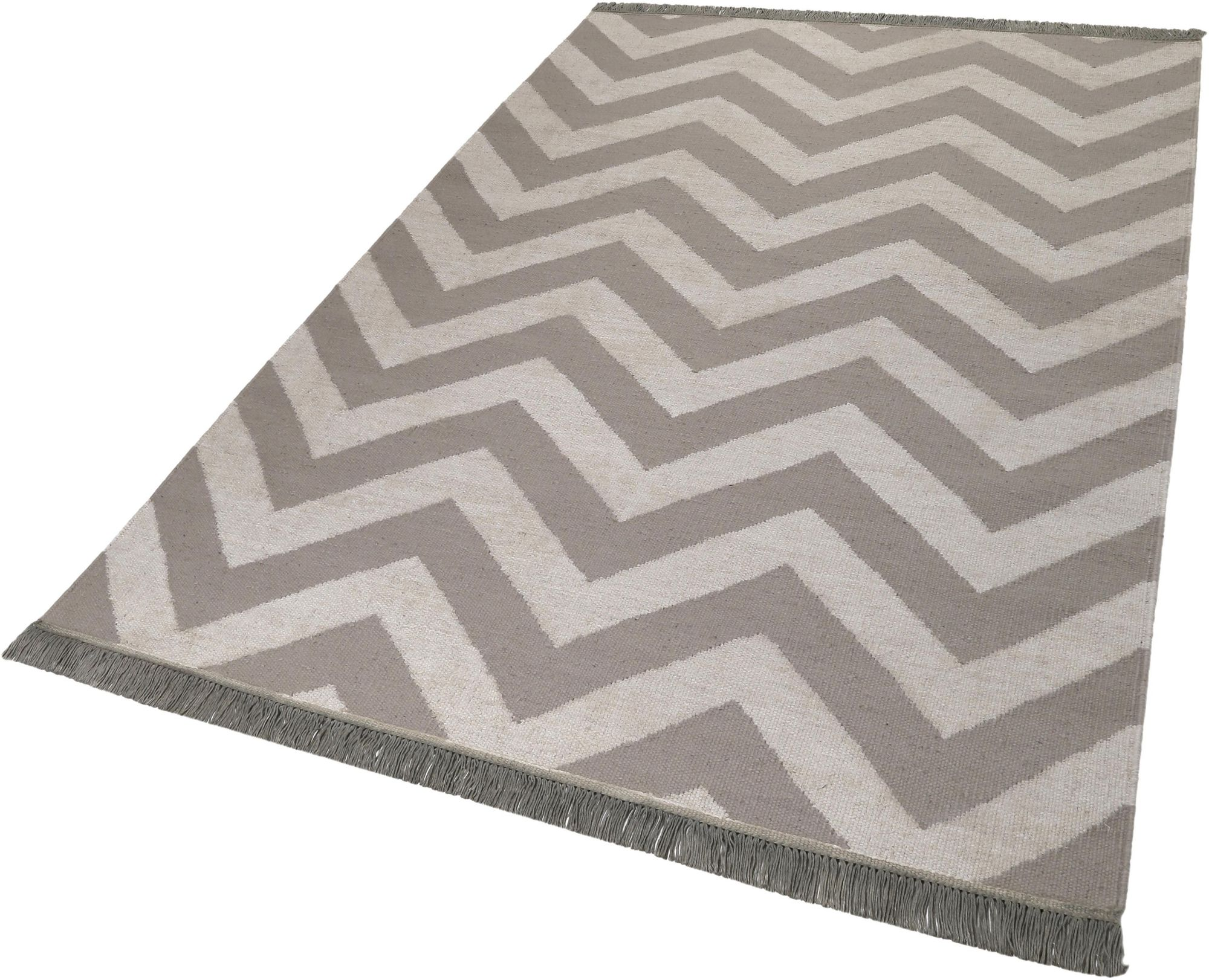 CARPETSCO Teppich, Carpets&Co, »Zig-Zag«, Höhe: 5 mm, handgewebt