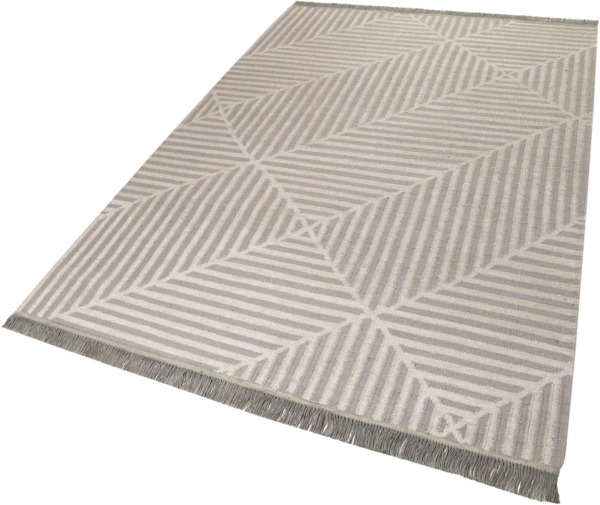 CARPETSCO Teppich, Carpets&Co, »Irregular Fields«, Höhe: 5 mm, handgewebt