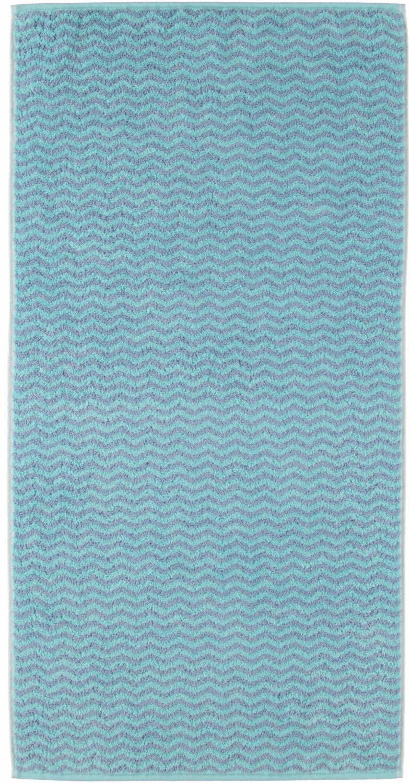 CAWÖ Badetuch, Cawö, »Interior Zick Zack«, mit leichtem Muster
