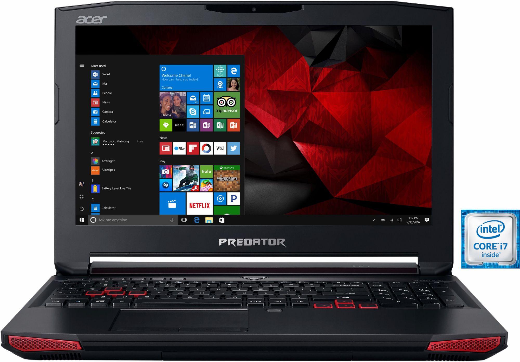 ACER Acer Predator G9-593-76D7 Notebook, Intel® Core? i7, 39,6 cm (15,6 Zoll), 1256 GB Speicher