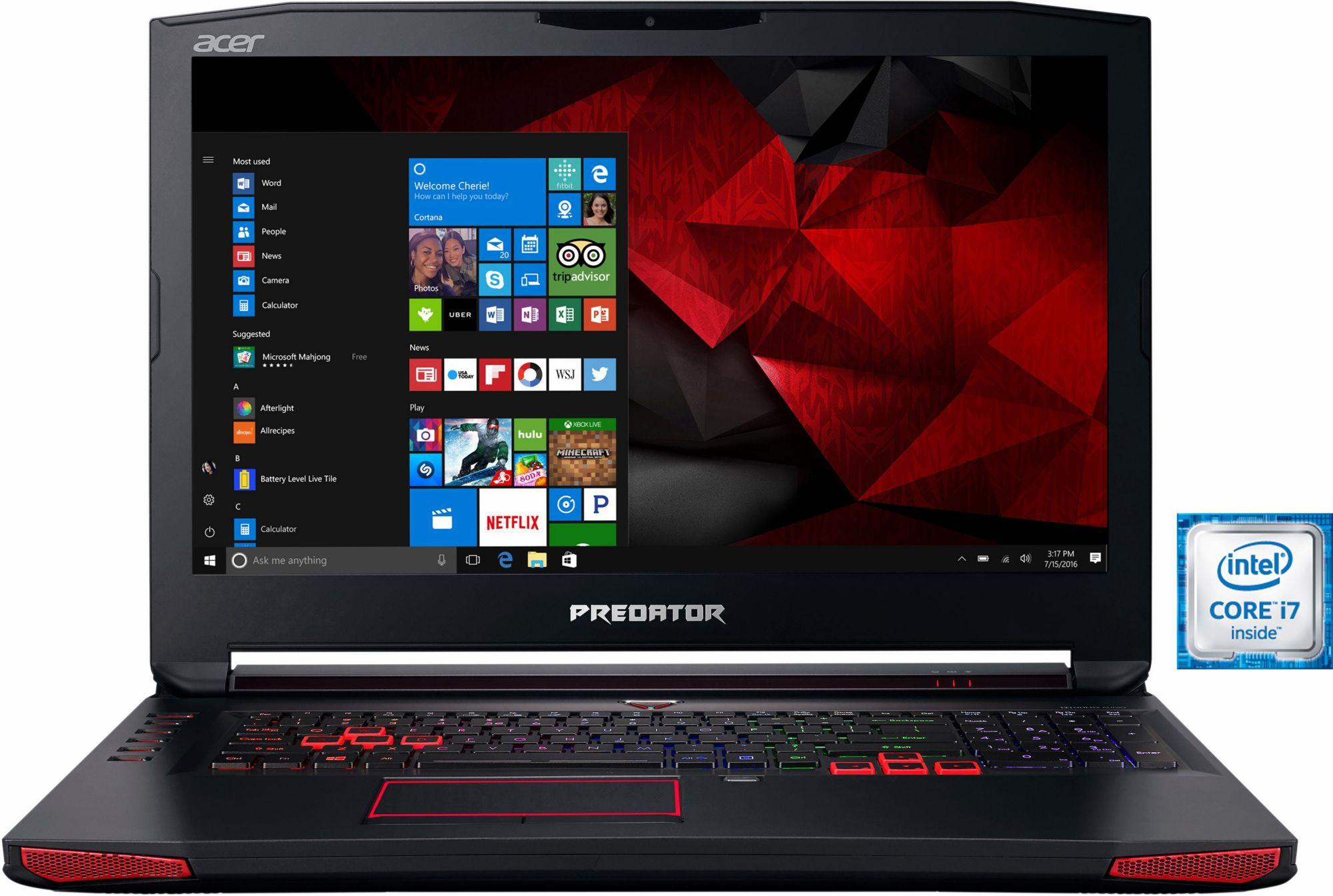 ACER Acer Predator G9-793-718K Notebook, Intel® Core? i7, 43,9 cm (17,3 Zoll), 1256 GB Speicher
