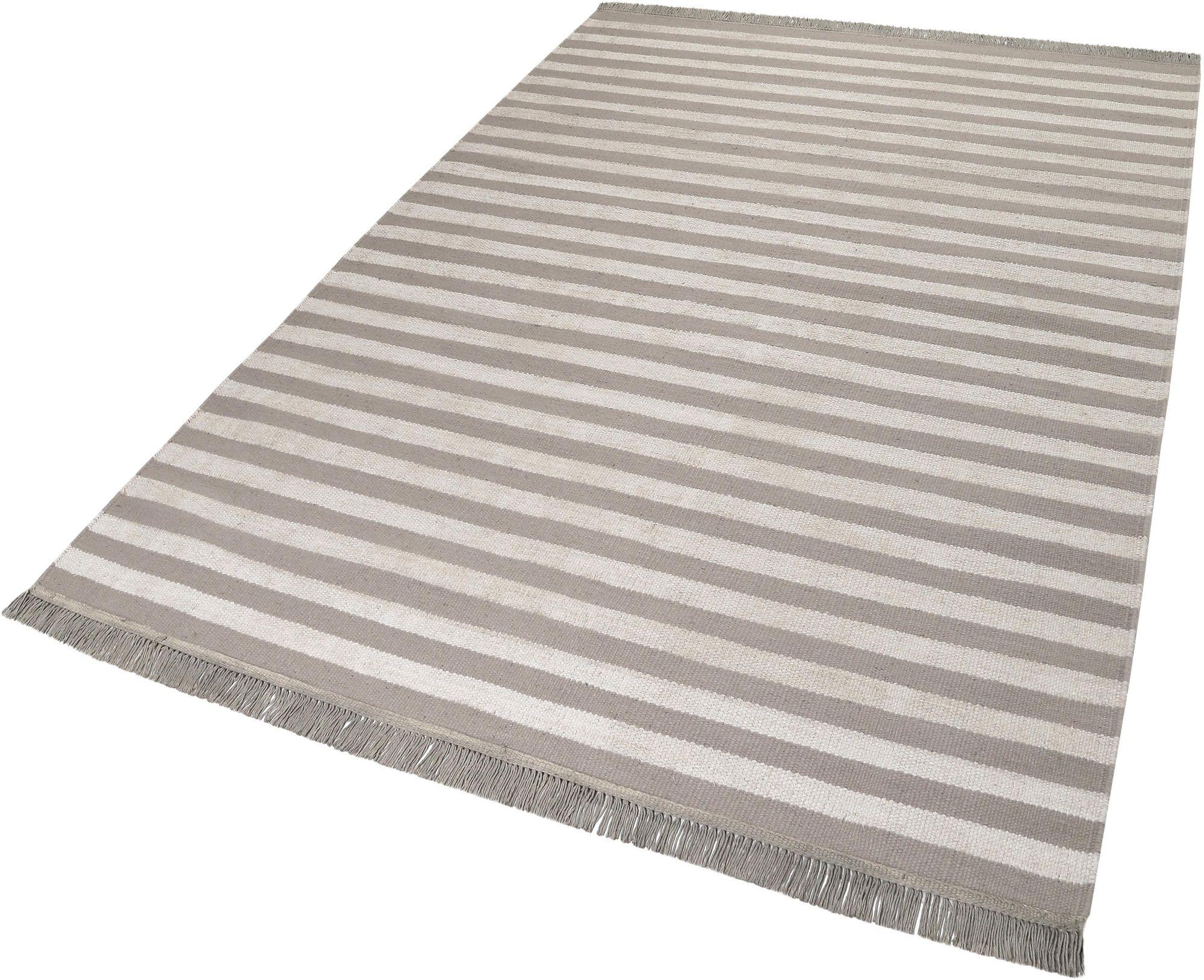 CARPETSCO Teppich, Carpets&Co, »Noble Stripes«, Höhe: 5 mm, handgewebt