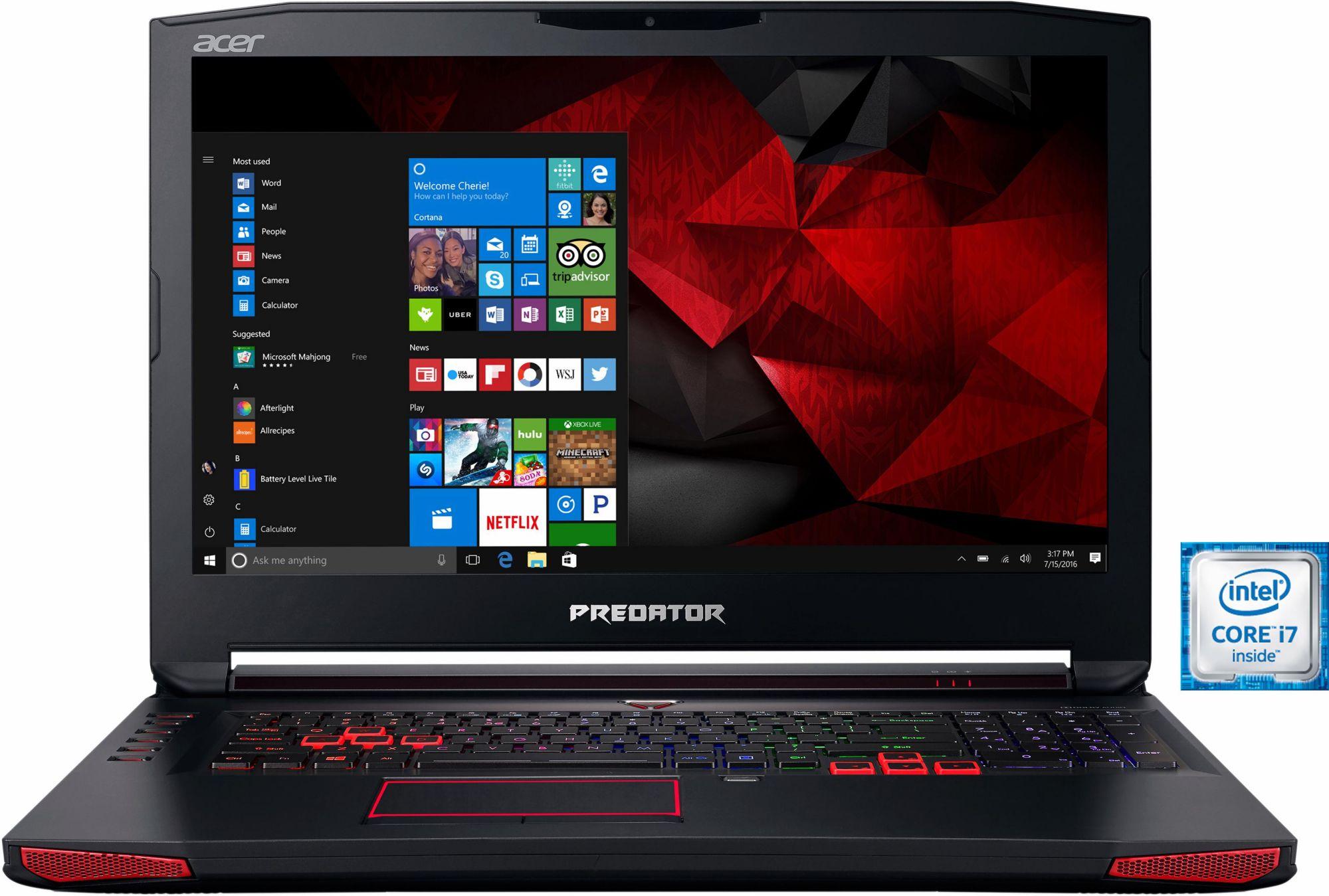 ACER Acer Predator G9-793-70PJ Notebook, Intel® Core? i7, 43,9 cm (17,3 Zoll), 1512 GB Speicher, 32768 MB