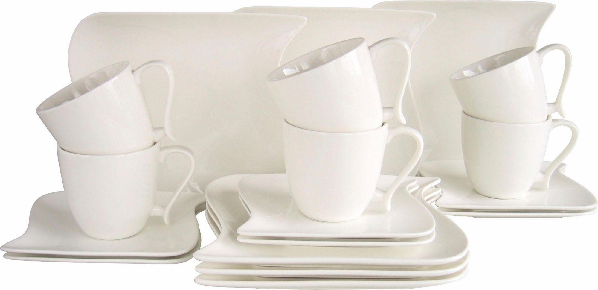 CREATABLE CreaTable Kaffeeservice, Porzellan, »Ocean« (18-teilig)