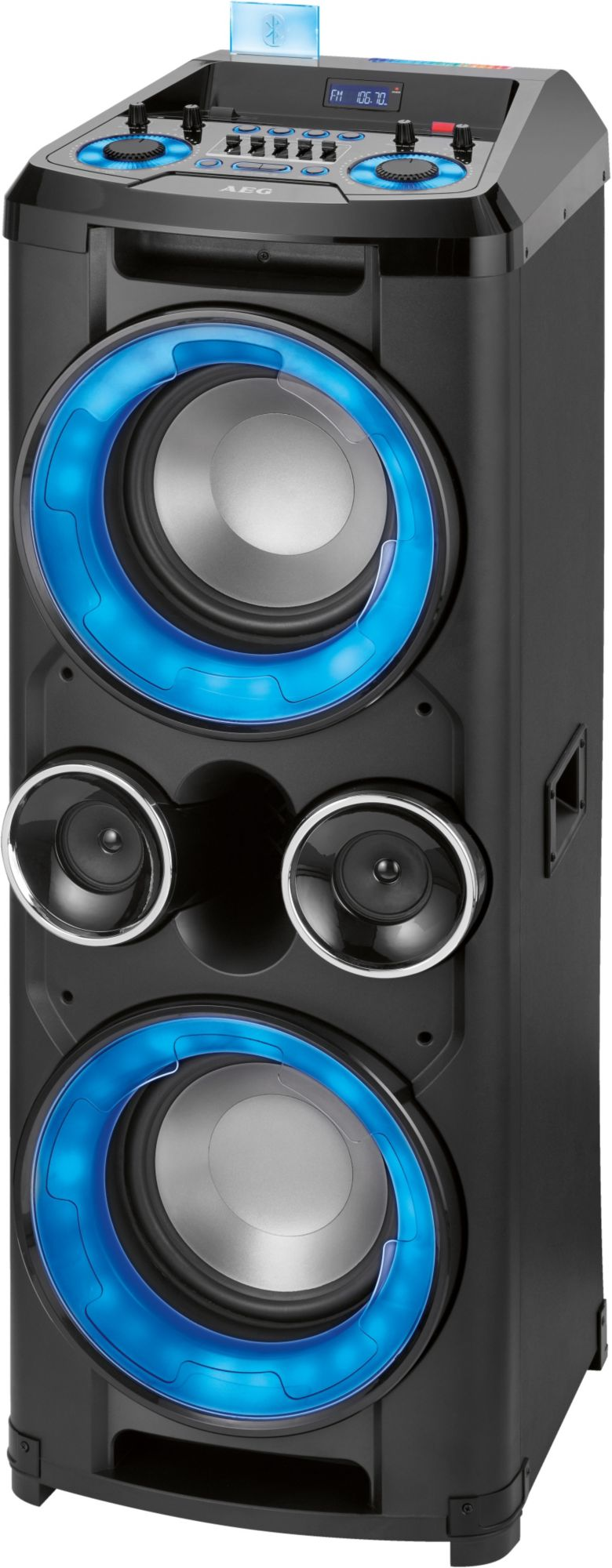 AEG  EC 4836 FM/BT/USB/AUX XXXL-Entertainment Center schwarz